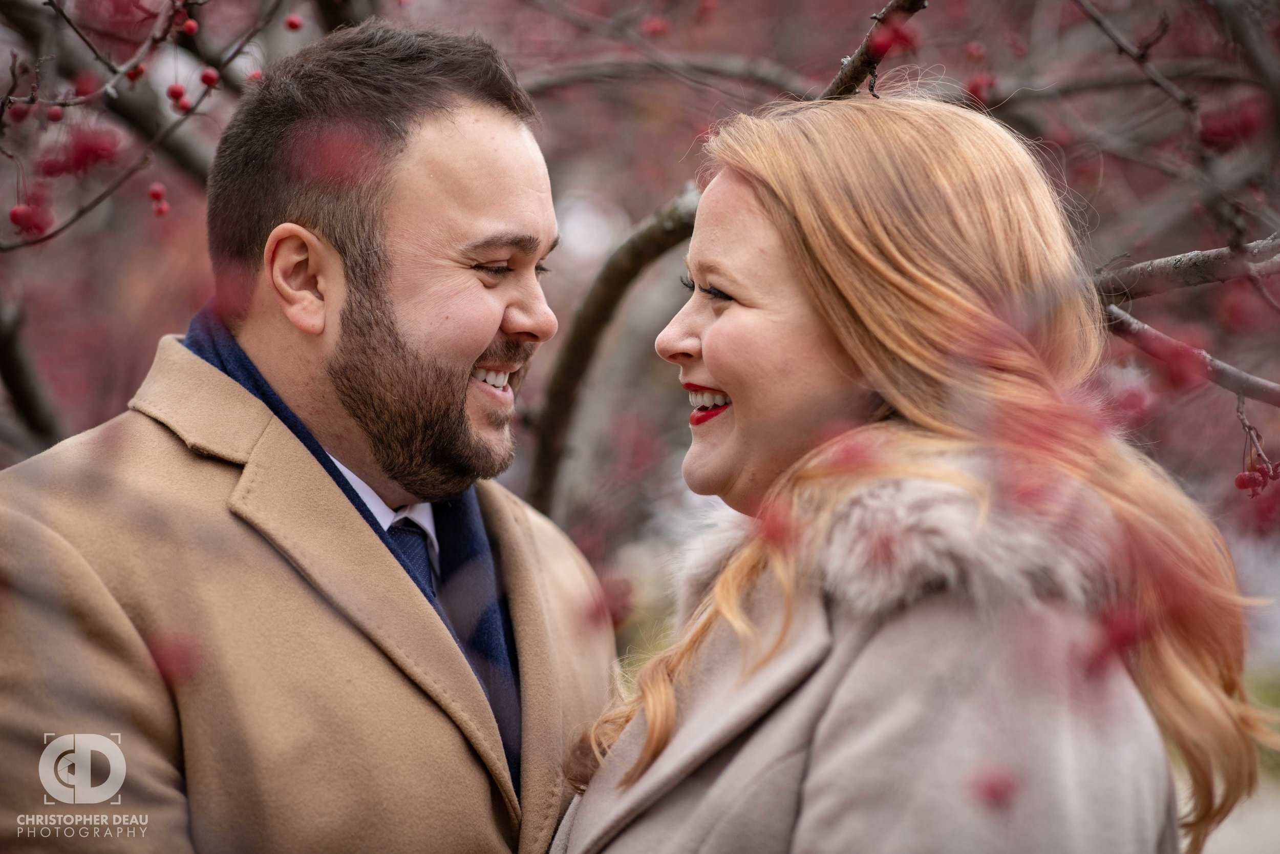 Rosa Parks Circle Grand Rapids Michigan engagement session photos