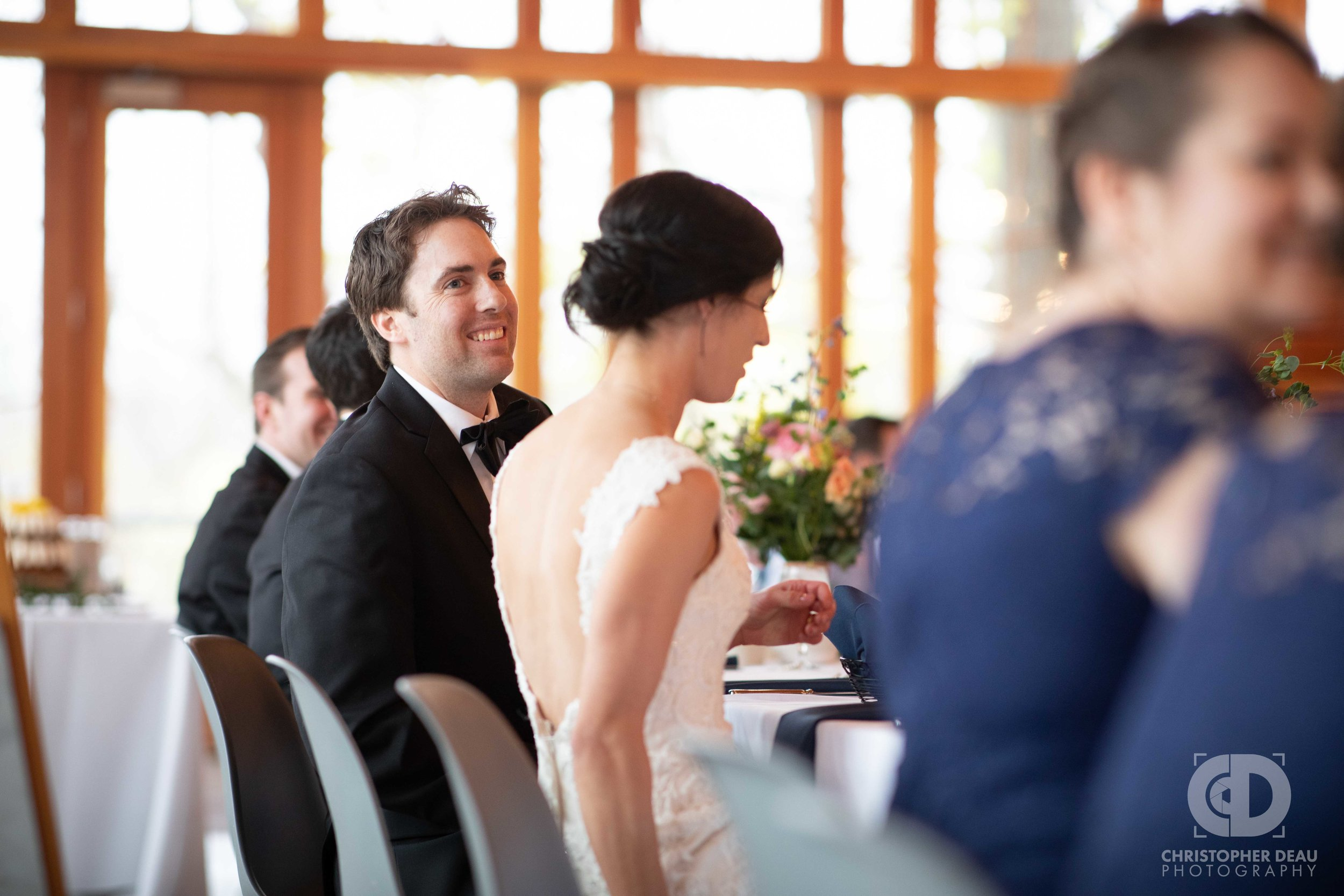 groom at the head table