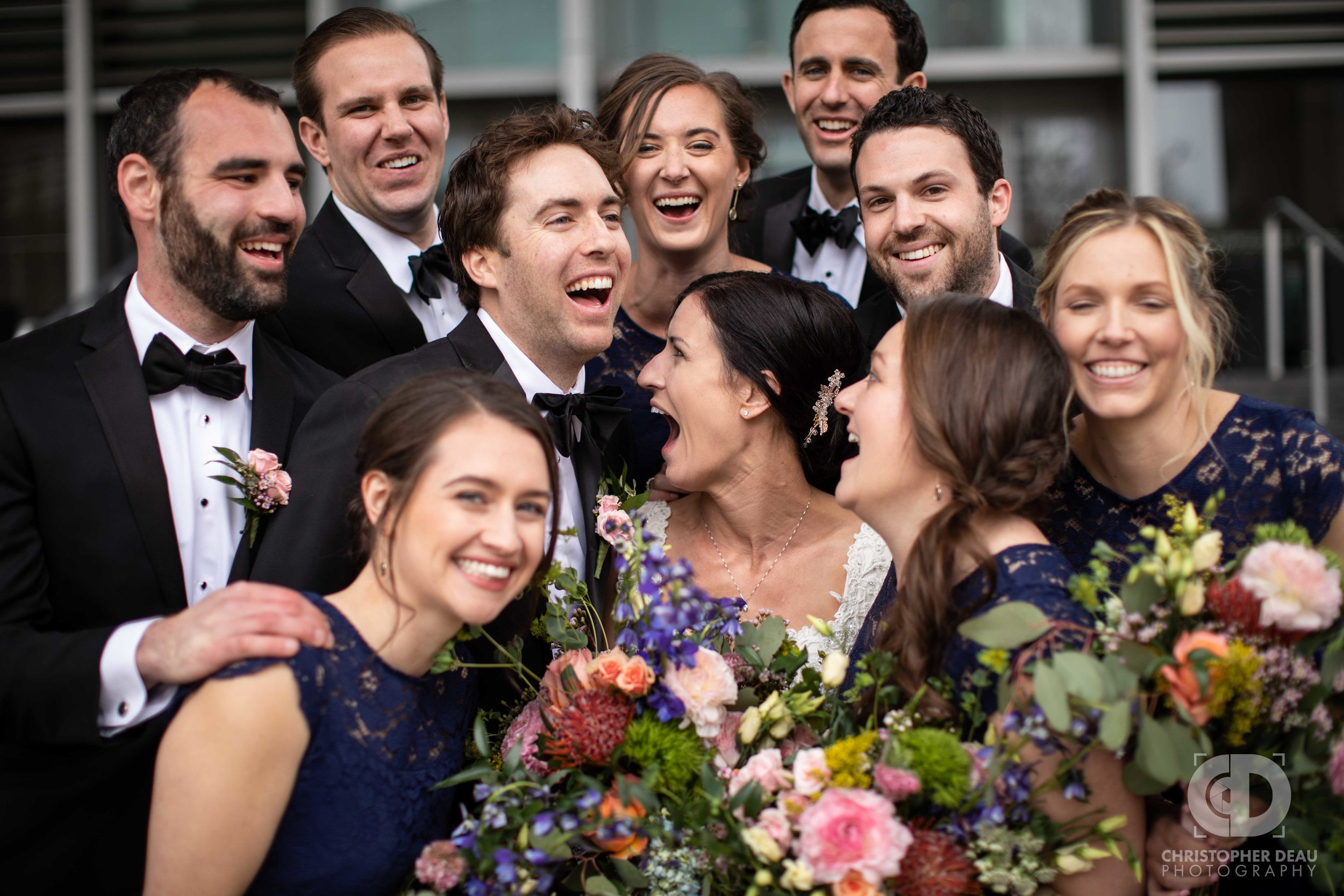 Wedding Party at the Grand Rapids Art Museum