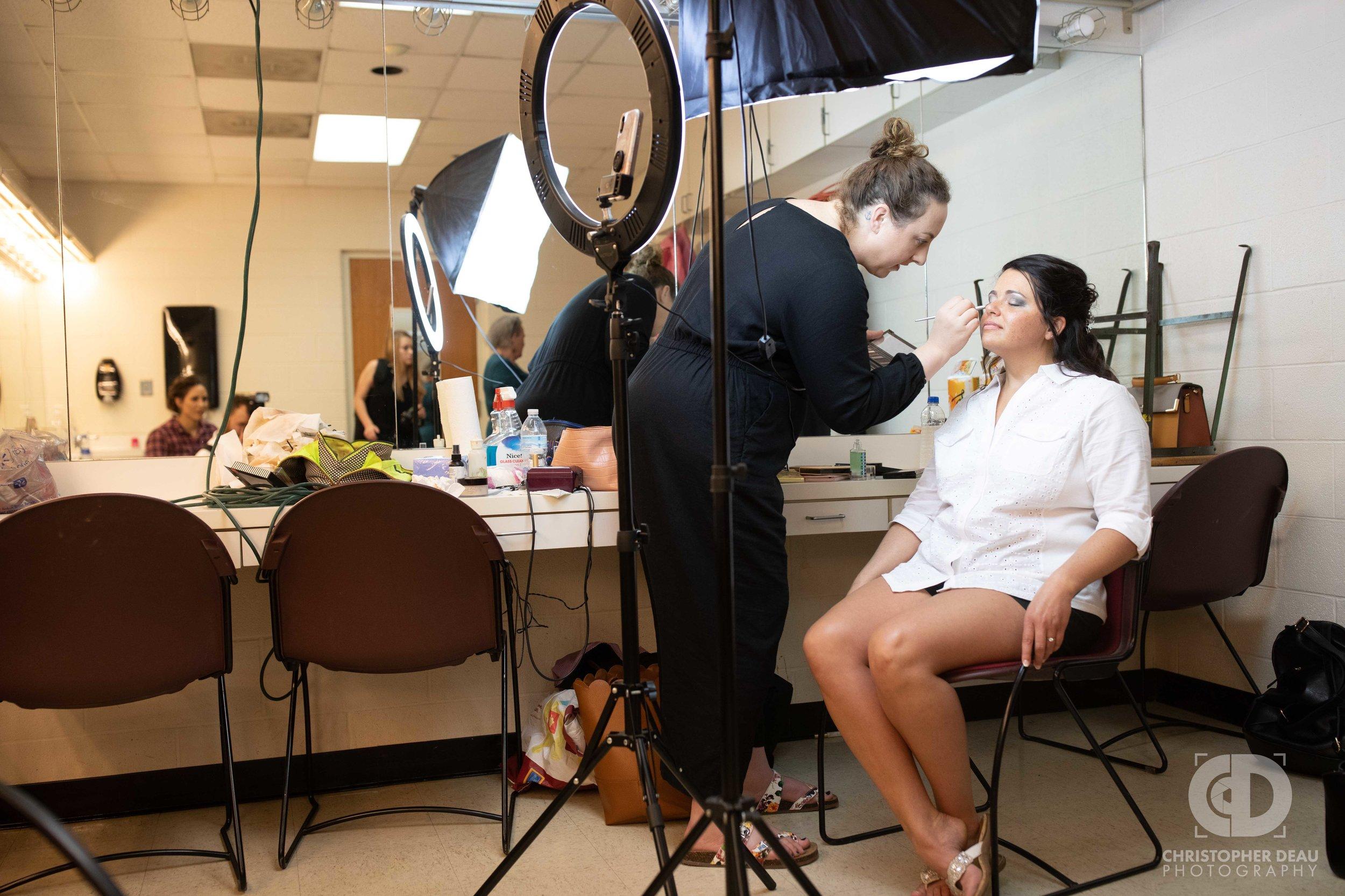 Bride getting ready at WMU