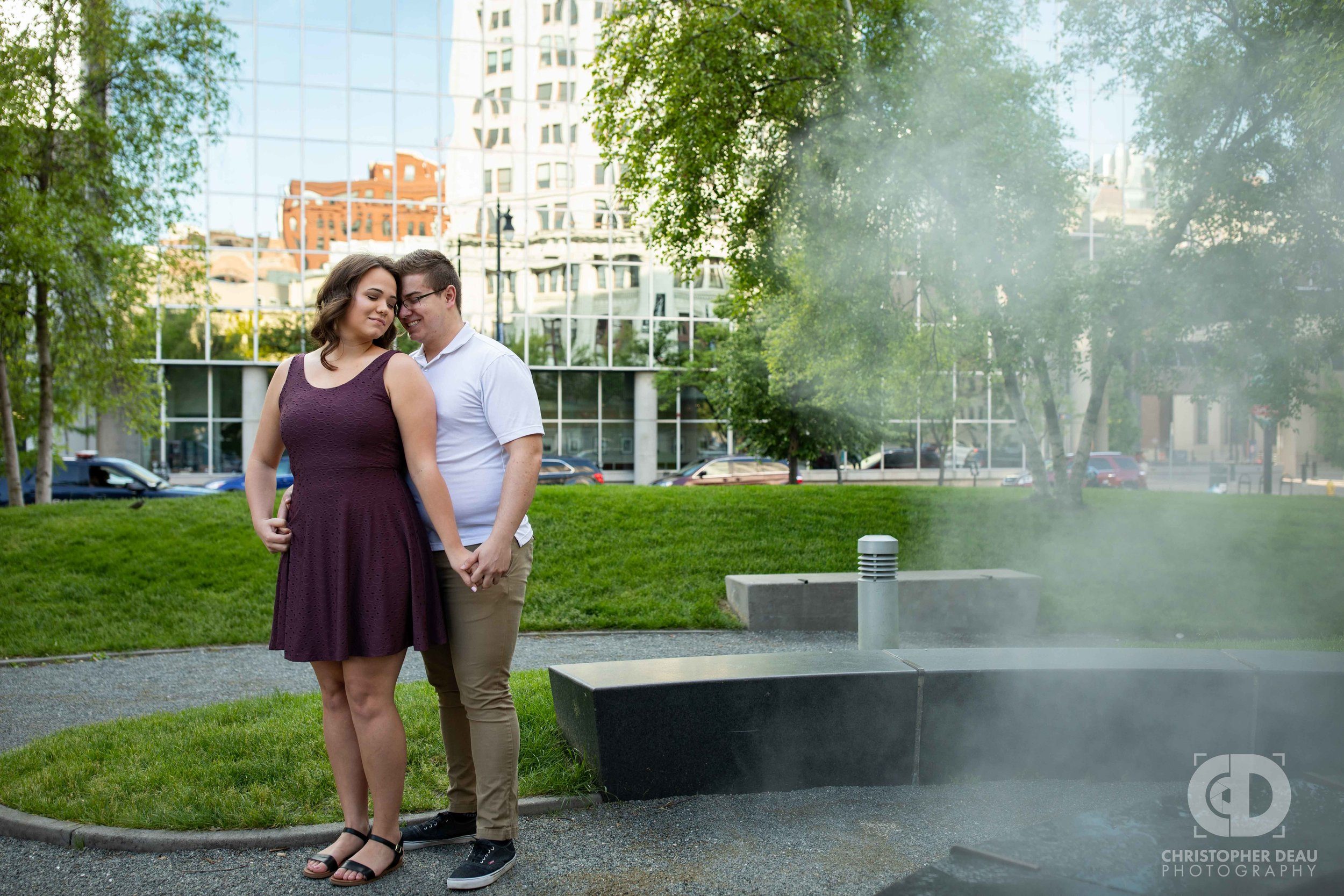 Rosa Parks Circle engagement photos.jpg