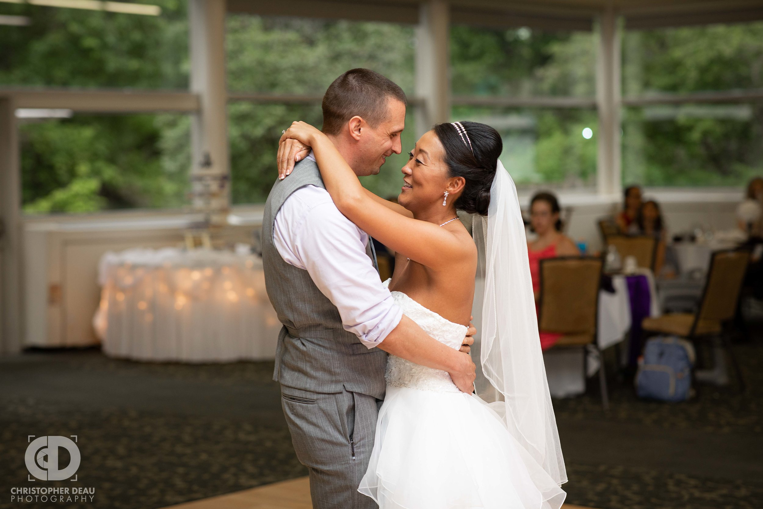 Bride and Groom have first dance at WMU Fetzer Center