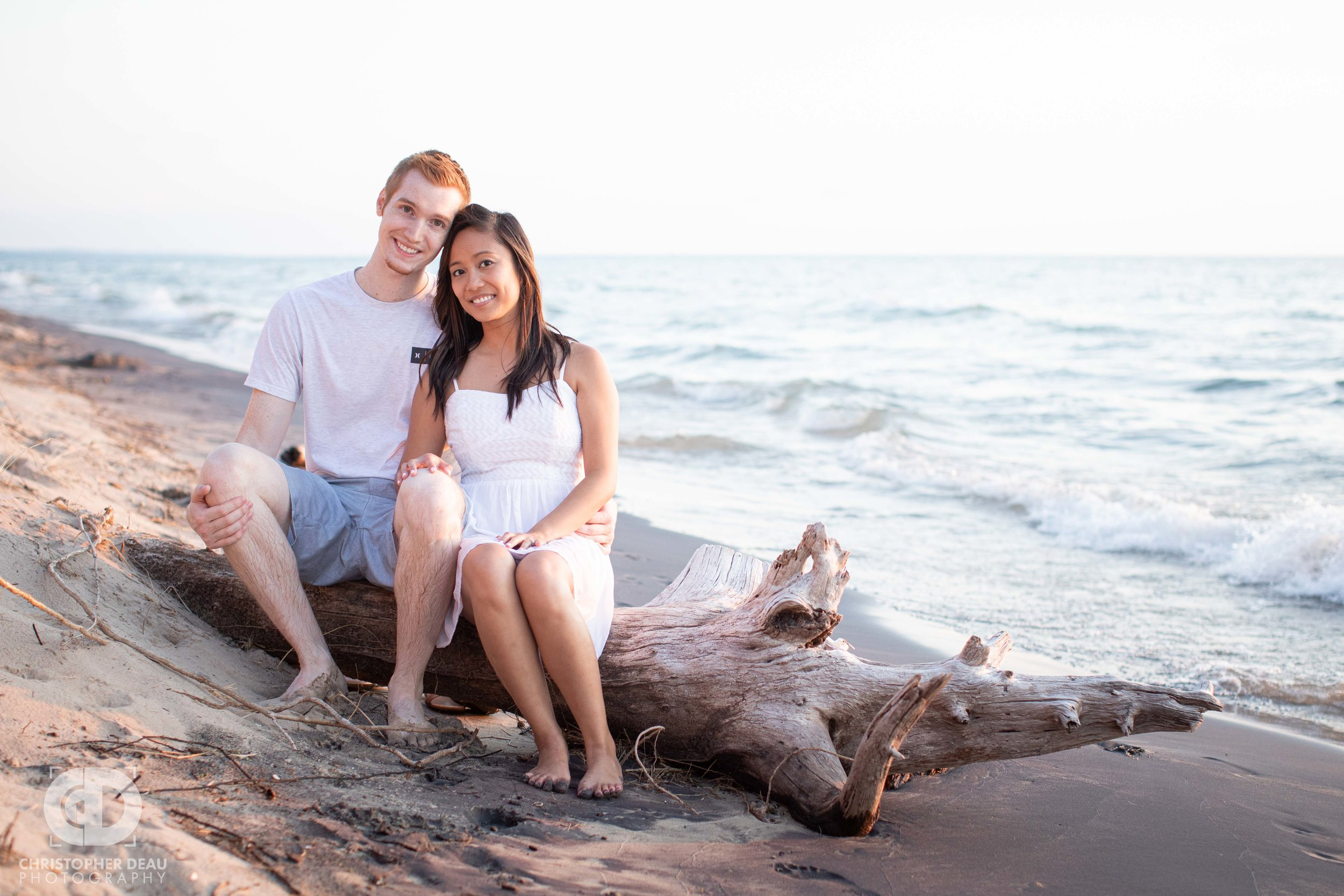 drift wood photo during engagement session