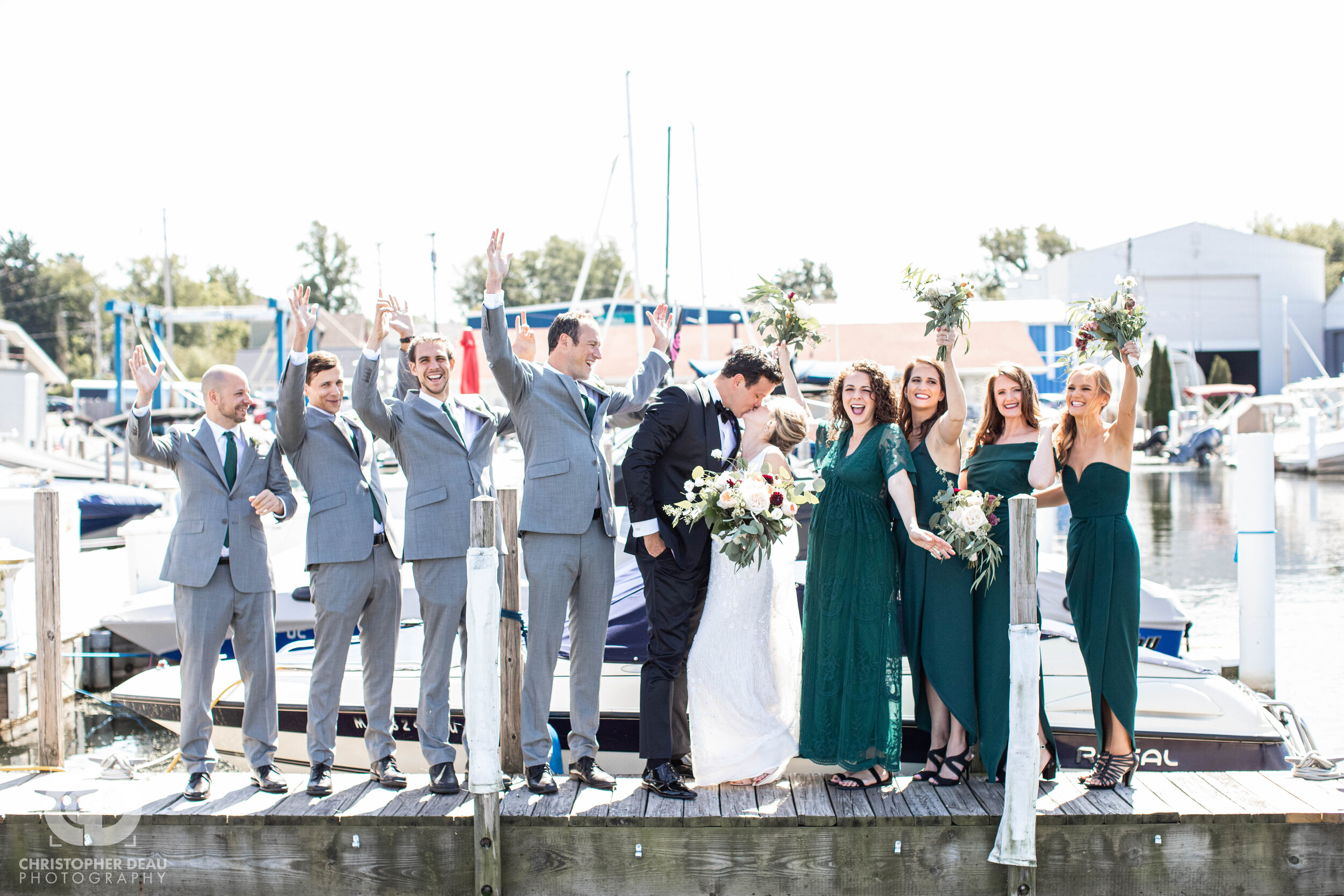 bridal party group photo