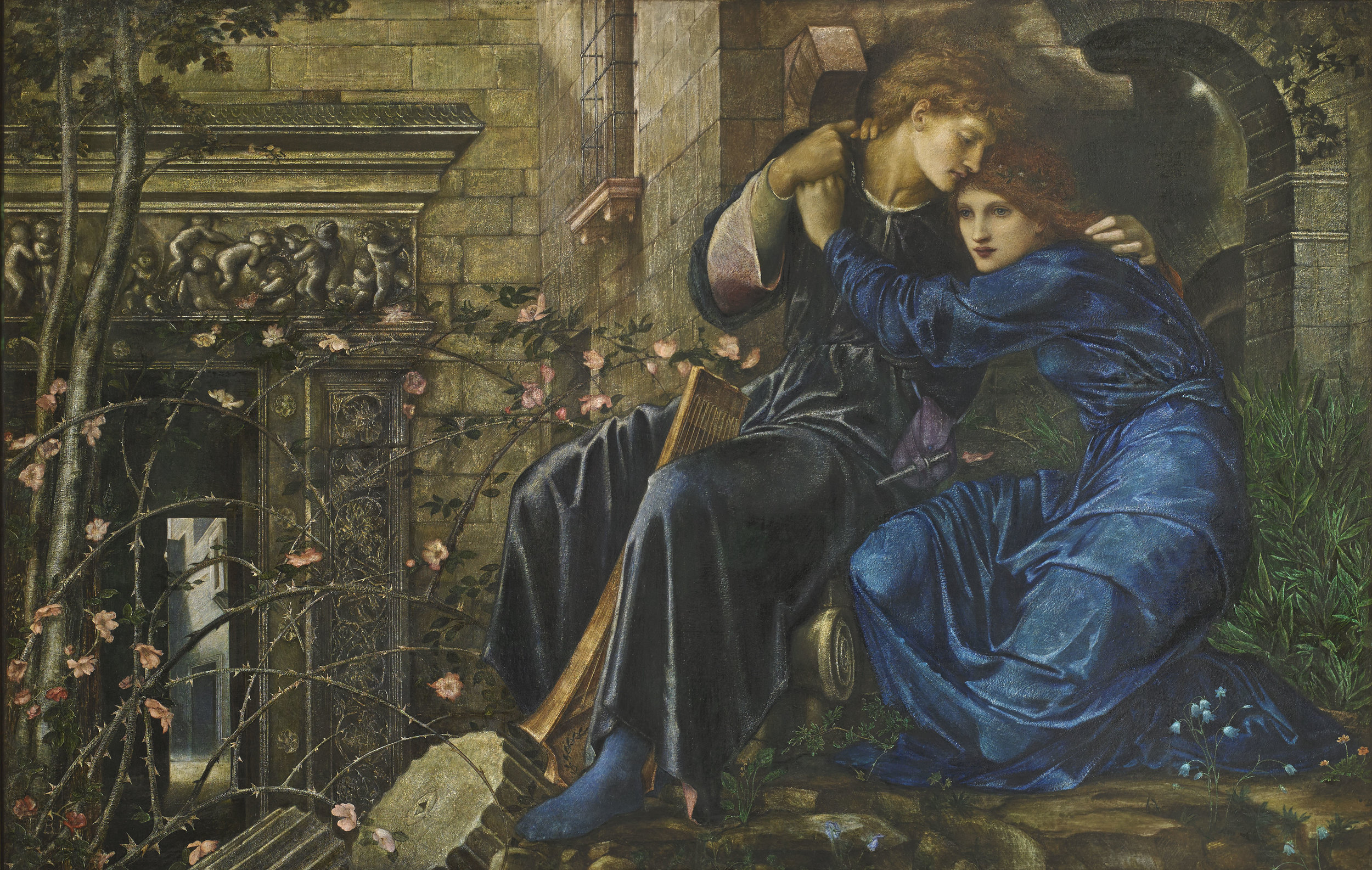 Edward Burne-Jones , Love Among the Ruins