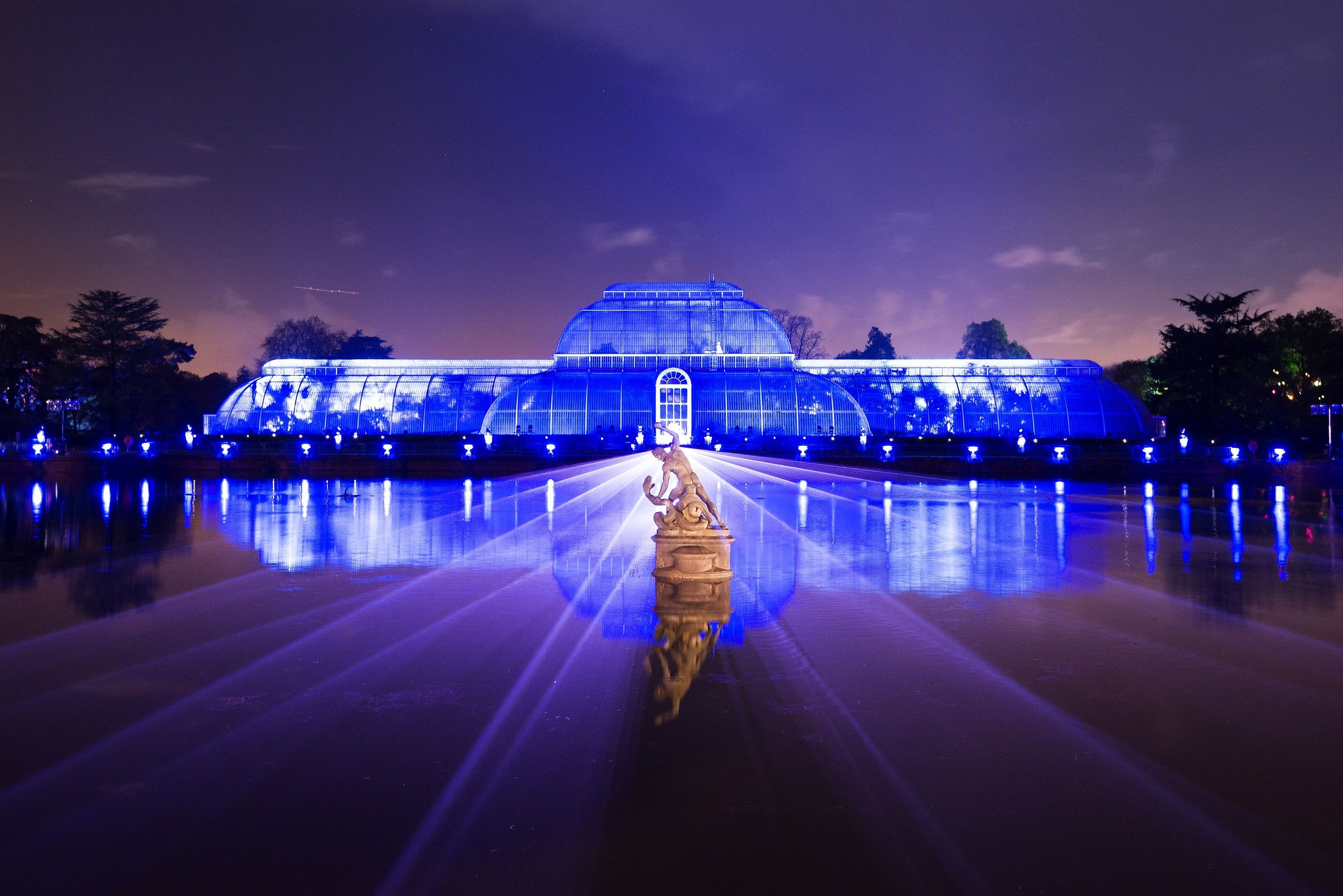 Palm House Illuminations, Jeff Eden, Royal Botanical Gardens Kew