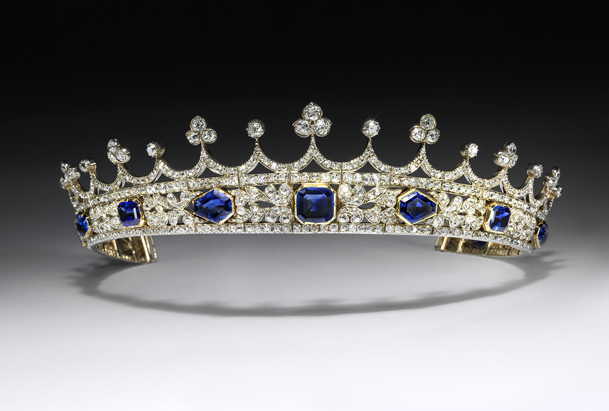 Queen Victoria's sapphire and diamond coronet, designed by Prince Albert, made by Joseph Kitching, London 1840-1842. c Victoria and Albert Museum