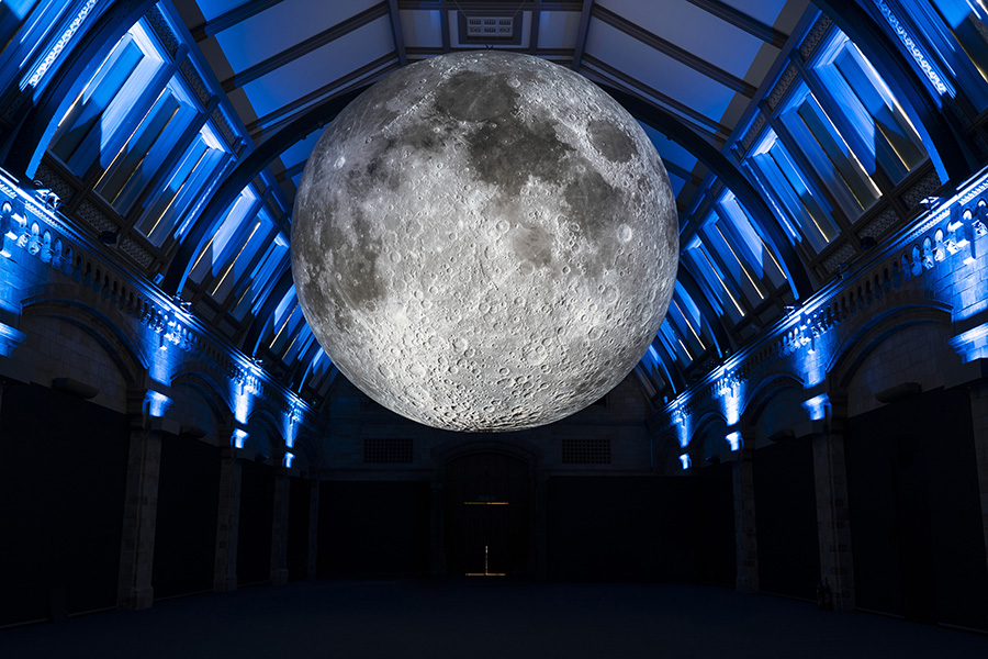 Museum of the Moon at the Natural History Museum cTrustees of the Natural History Museum /Dare & Hier Media
