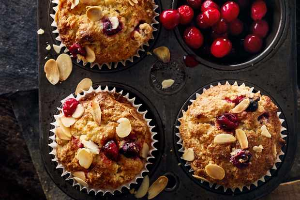 Strawberry Vanilla Granola Velvet Muffin