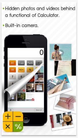 find calculator app hidden photos