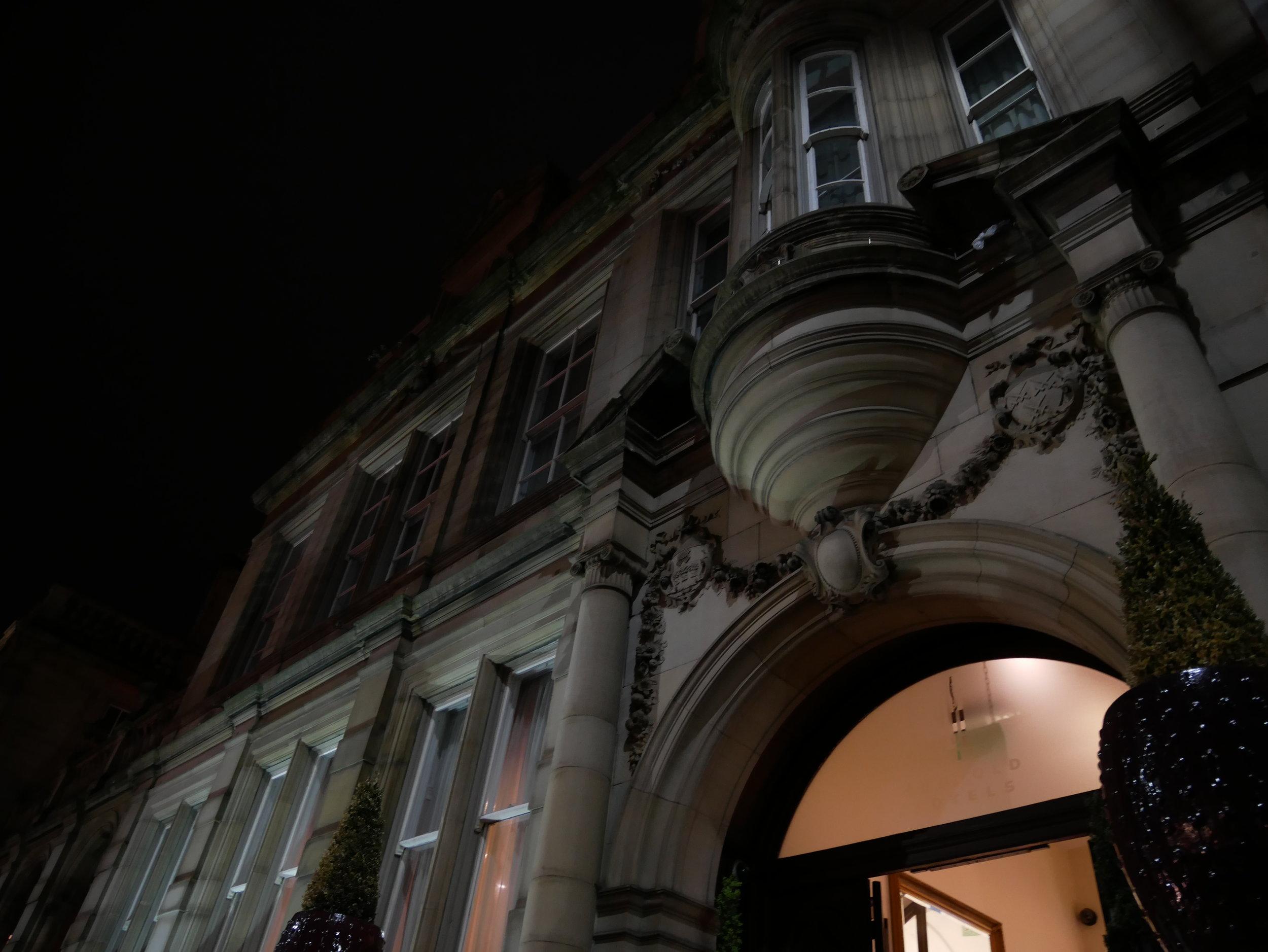 Här bodde vi. Leopold hotel.