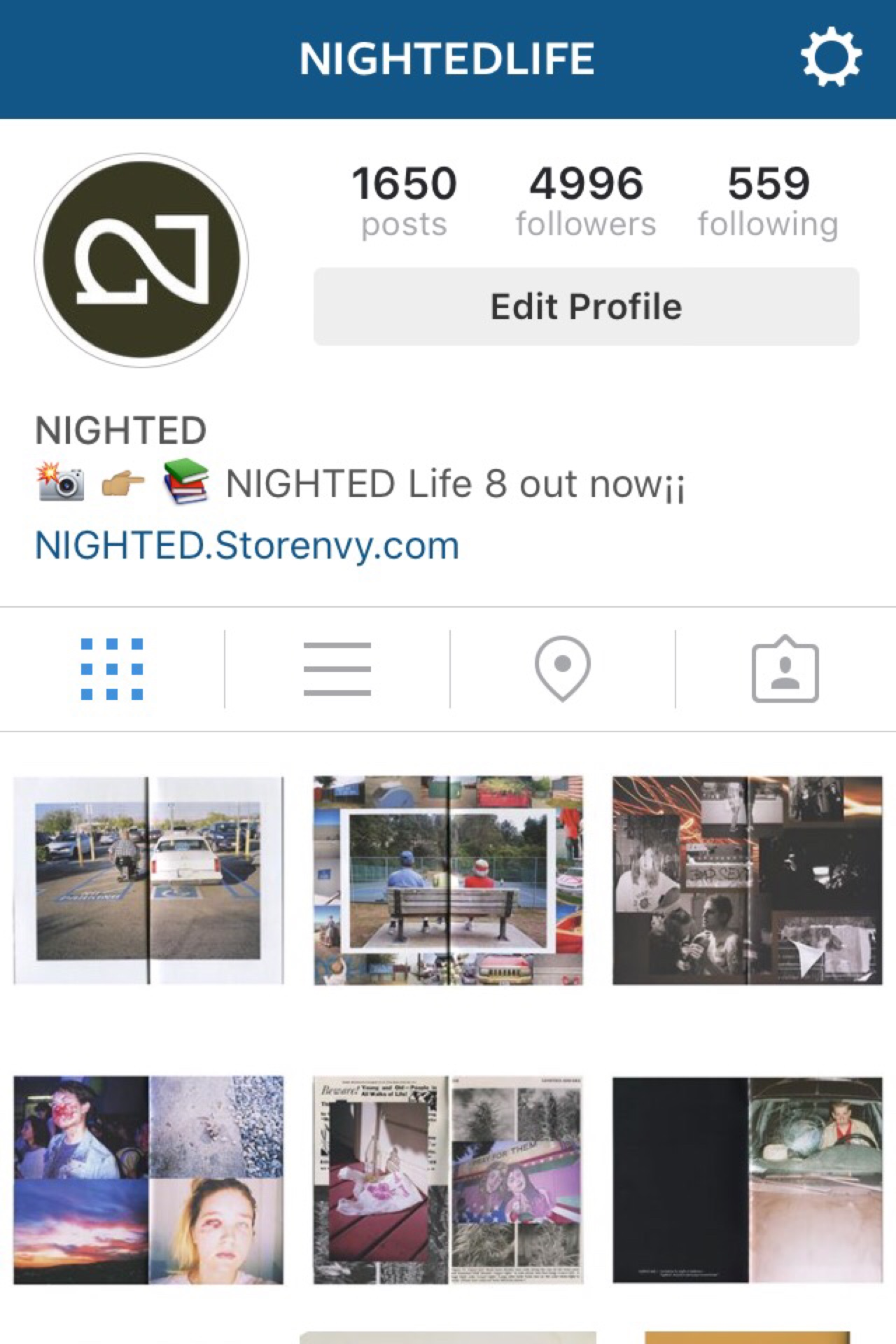 "Follow us on ig:: ""@NIGHTEDLife"""