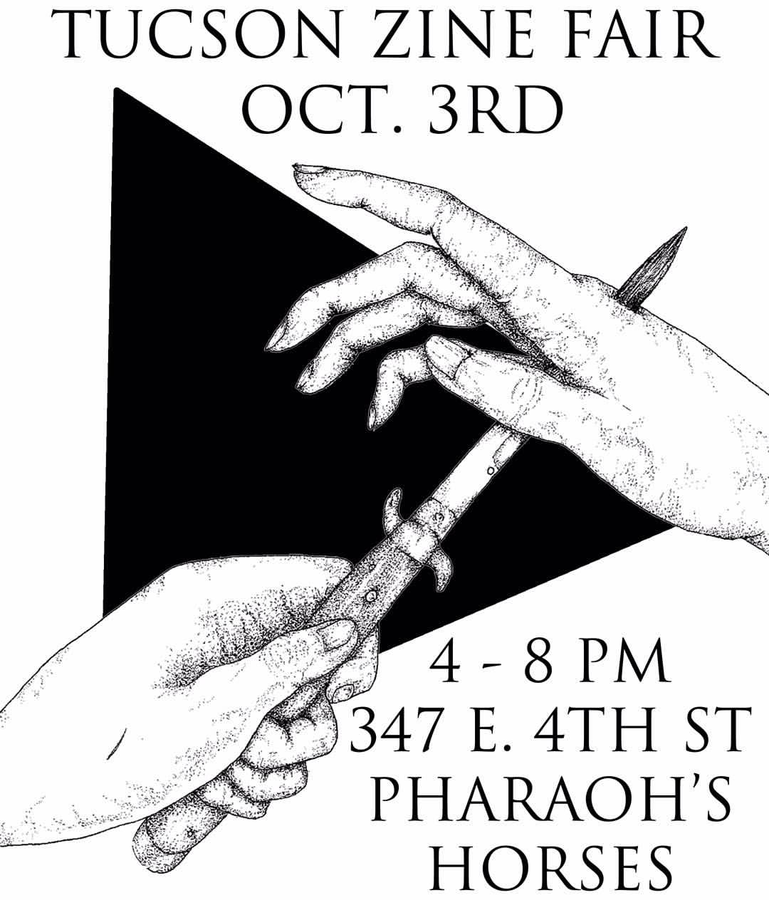 Arizona:: Come thru the Tucson Zine Fair tomorrow and scoop some zines from us¡¡
