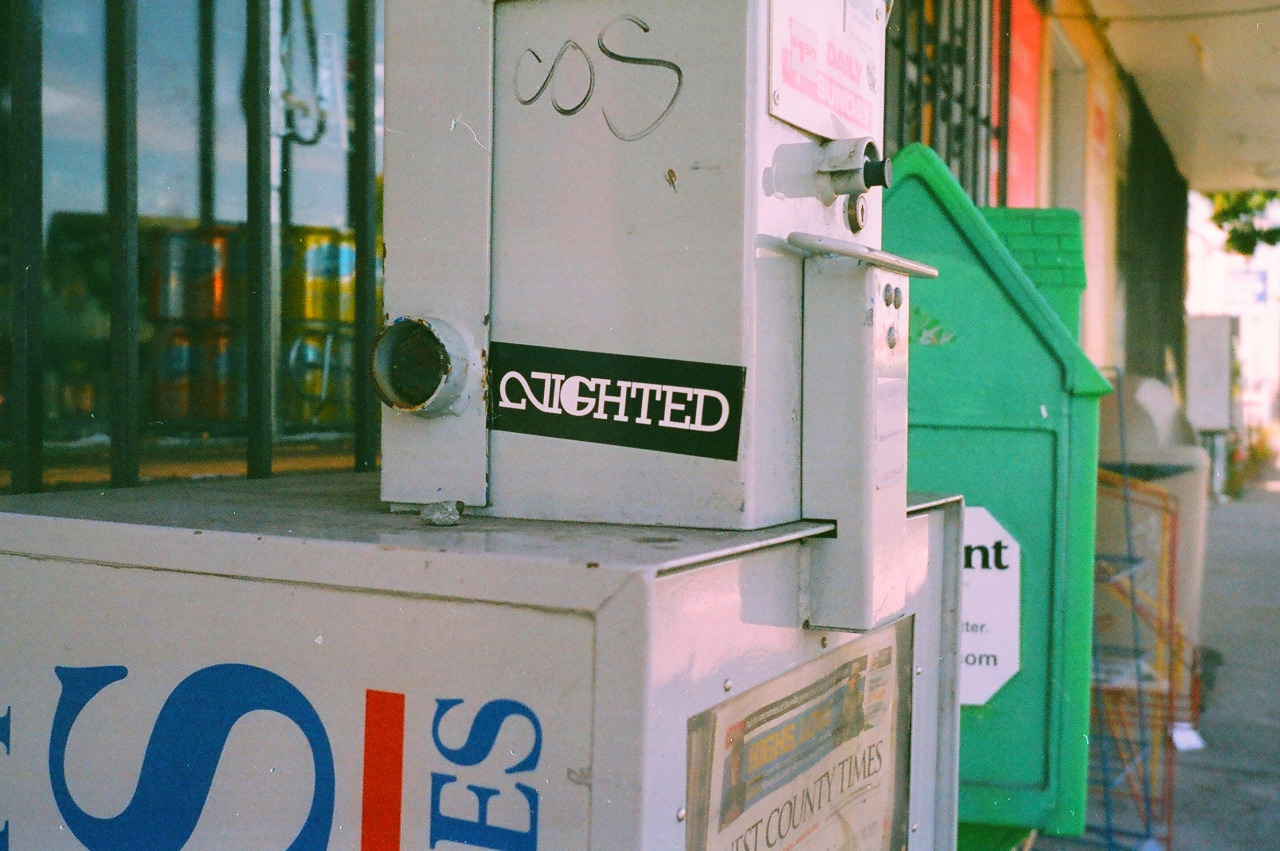 If you have photos of NIGHTED stickers in ur area, please send em to NIGHTEDLife@gmail.com and we'll post em- thanks.