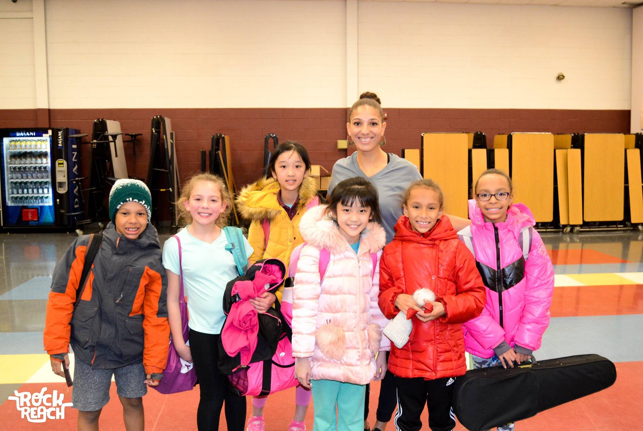 Theresa Pelicata with her RockReach students at New Foundations Charter School