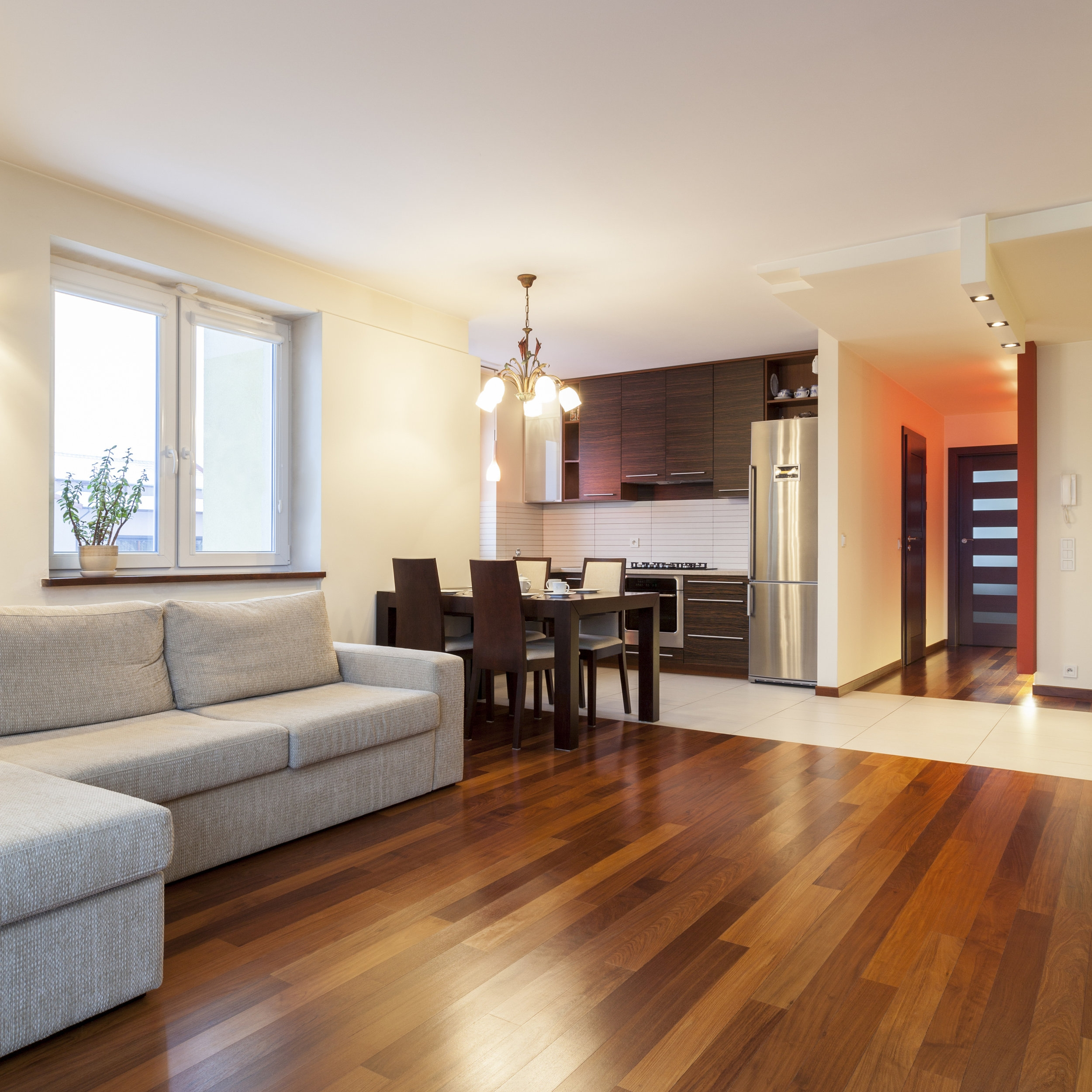 Hardwood and vinyl flooring