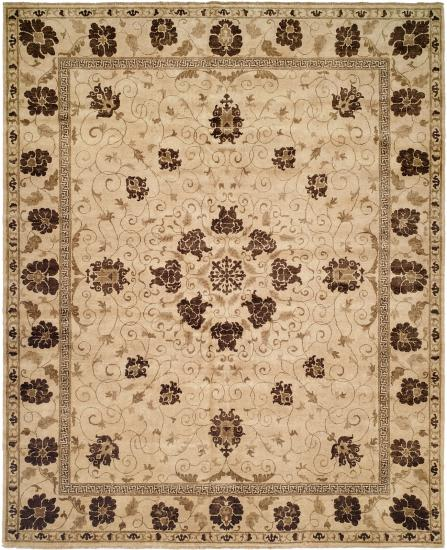 Rug #003693 Retail: $1,702.00 Sale: $1,191.00 Size: 4'x6' Color: Ivory/Ivory Hand Knotted Wool Made in India