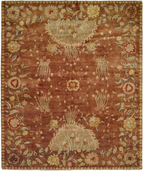 Rug #003507 Retail: $1,850.00 Sale: $1,295.00 Size: 4'x6' Color: Rosewood Reveire Hand Knotted Wool Made in India