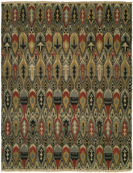 Rug #003528 Retail: $1,110.00 Sale: $777.00 Size: 4'x6' Color: Multi Hand Knotted Wool Made in India