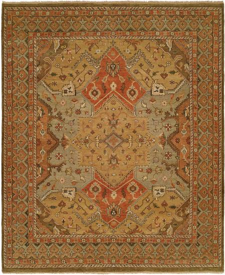 Rug #004971 Retail: $1,591.00 Sale: $1,114.00 Size: 4'x6' Color: Multi Hand Knotted Wool Made in India