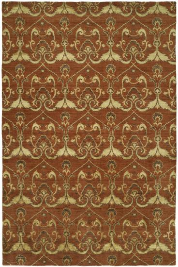 Rug #003512 Retail: $1,073.00 Sale: $751.00 Size: 4'x6' Color: Terricotta Hand Knotted Wool Made in India