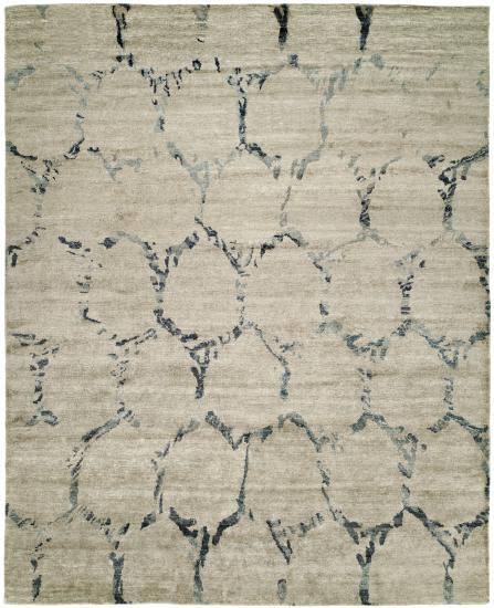 Rug #003764 Retail: $4,625.00 Sale: $2,299.00 Size: 6'x9' Color: Granite Beige Made in India Viscose