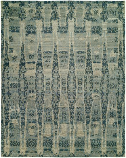 Rug #003709 Retail: $4588.00 Sale: $3212.00 Size: 8' x 10' Color: Azure Made in India Wool & Silkette