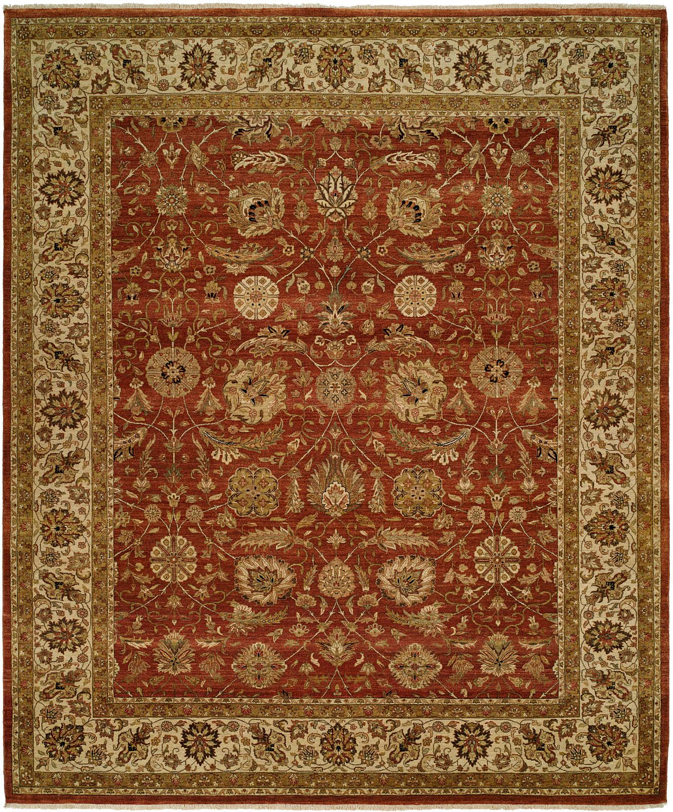 Rug: #001066 Retail: $13,586.40 Sale: $7,990.00 Size: 9' x12' Color: Rose/Ivory Made in India Hand Knotted Wool
