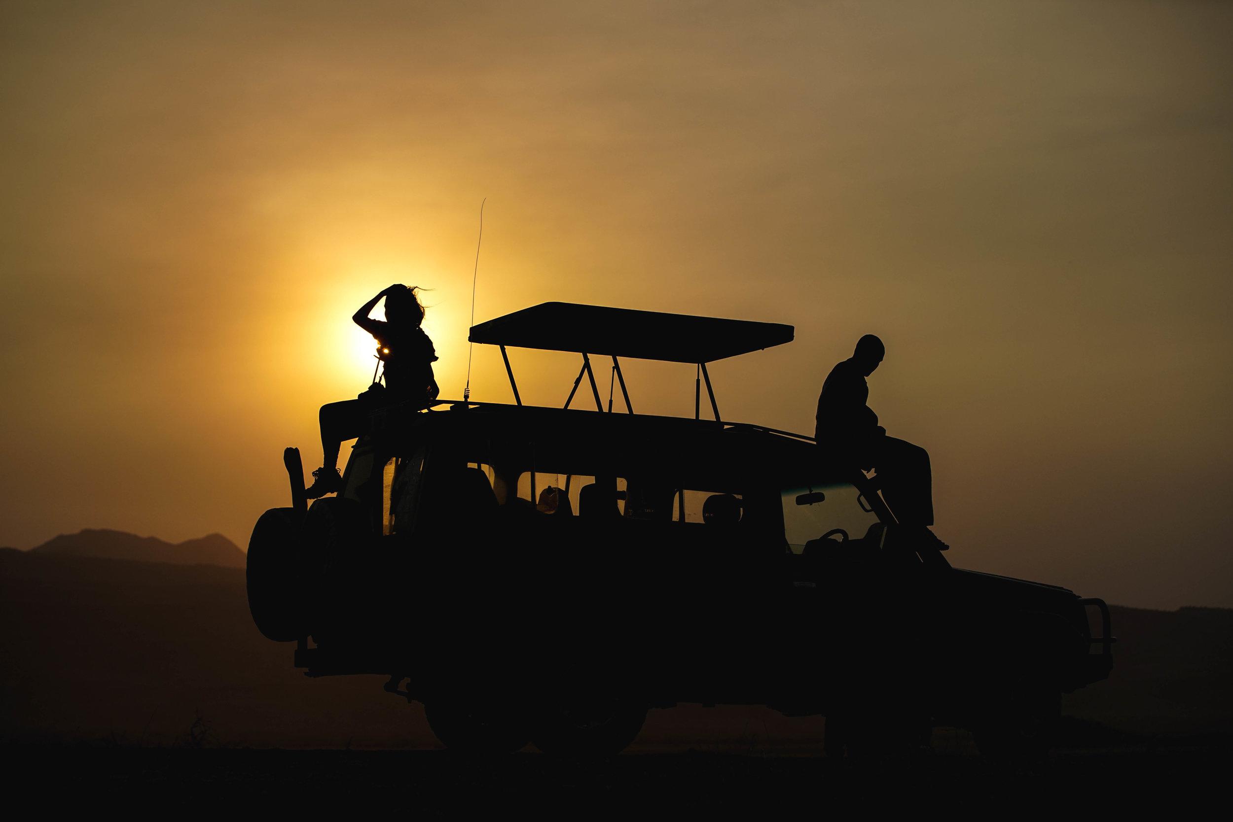Sunset at Lake Natron, Tanzania. Photo: Zack Fackrell.