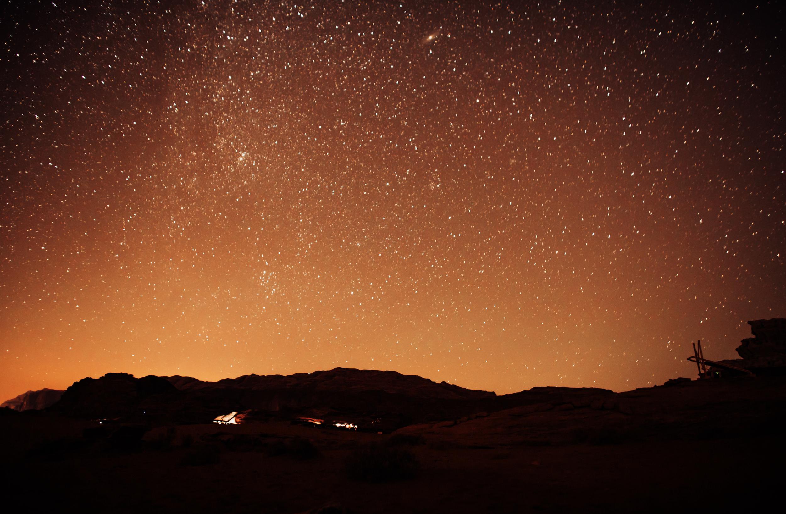 Wadi Rum's night sky.