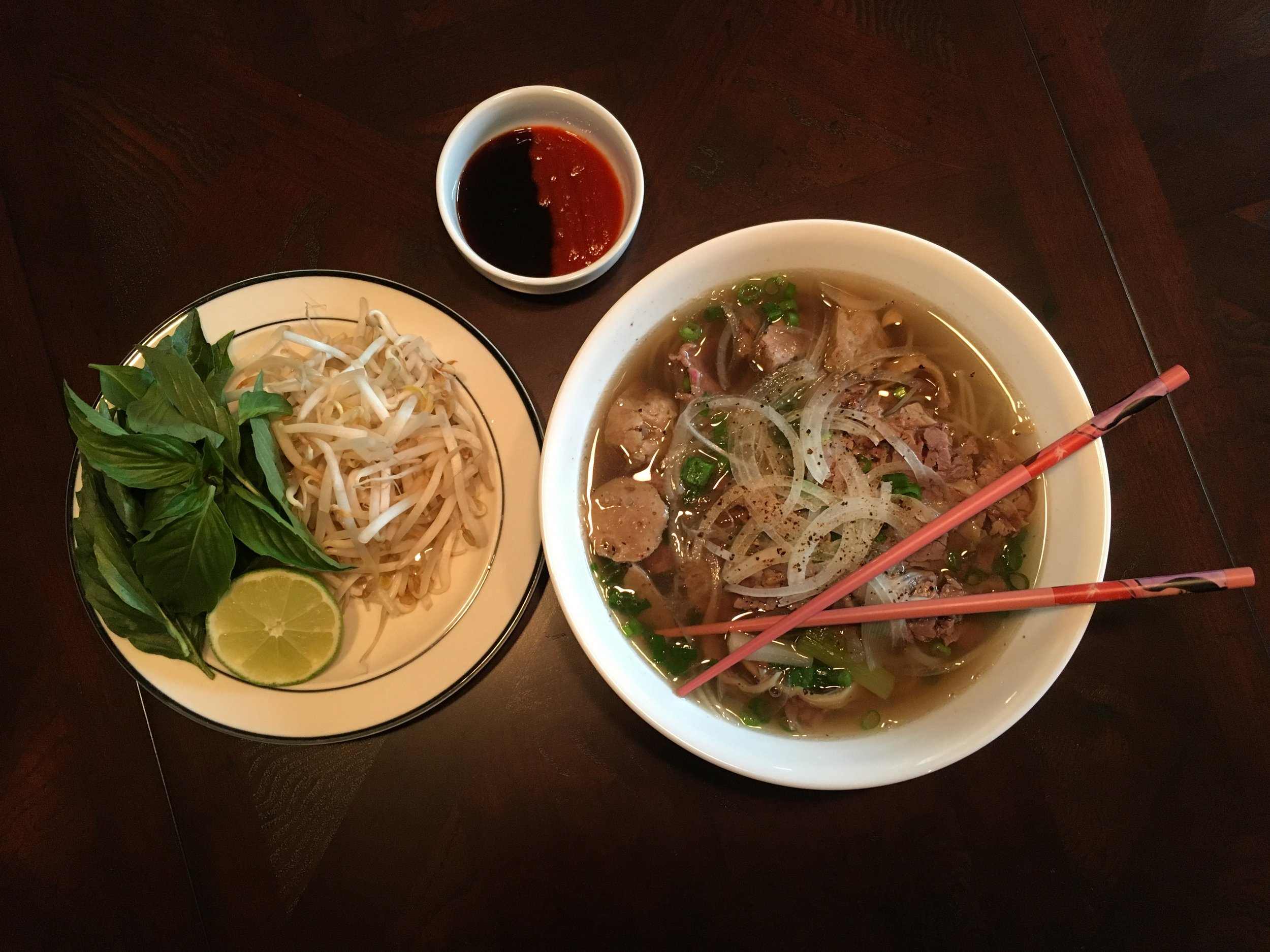 Beef Brisket and Meatball Pho
