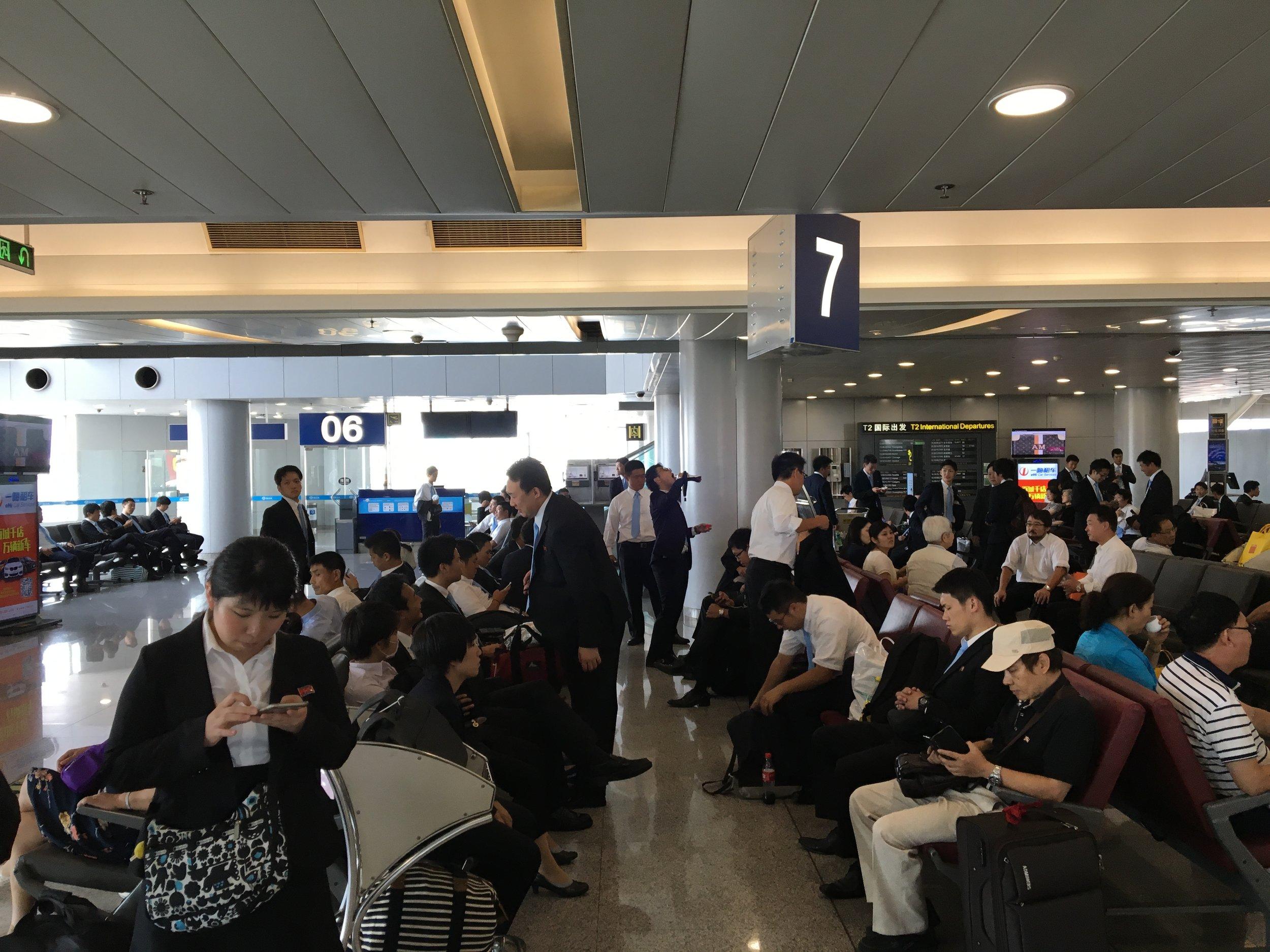 Gate area in Beijing before boarding Air Koryo to Pyongyang