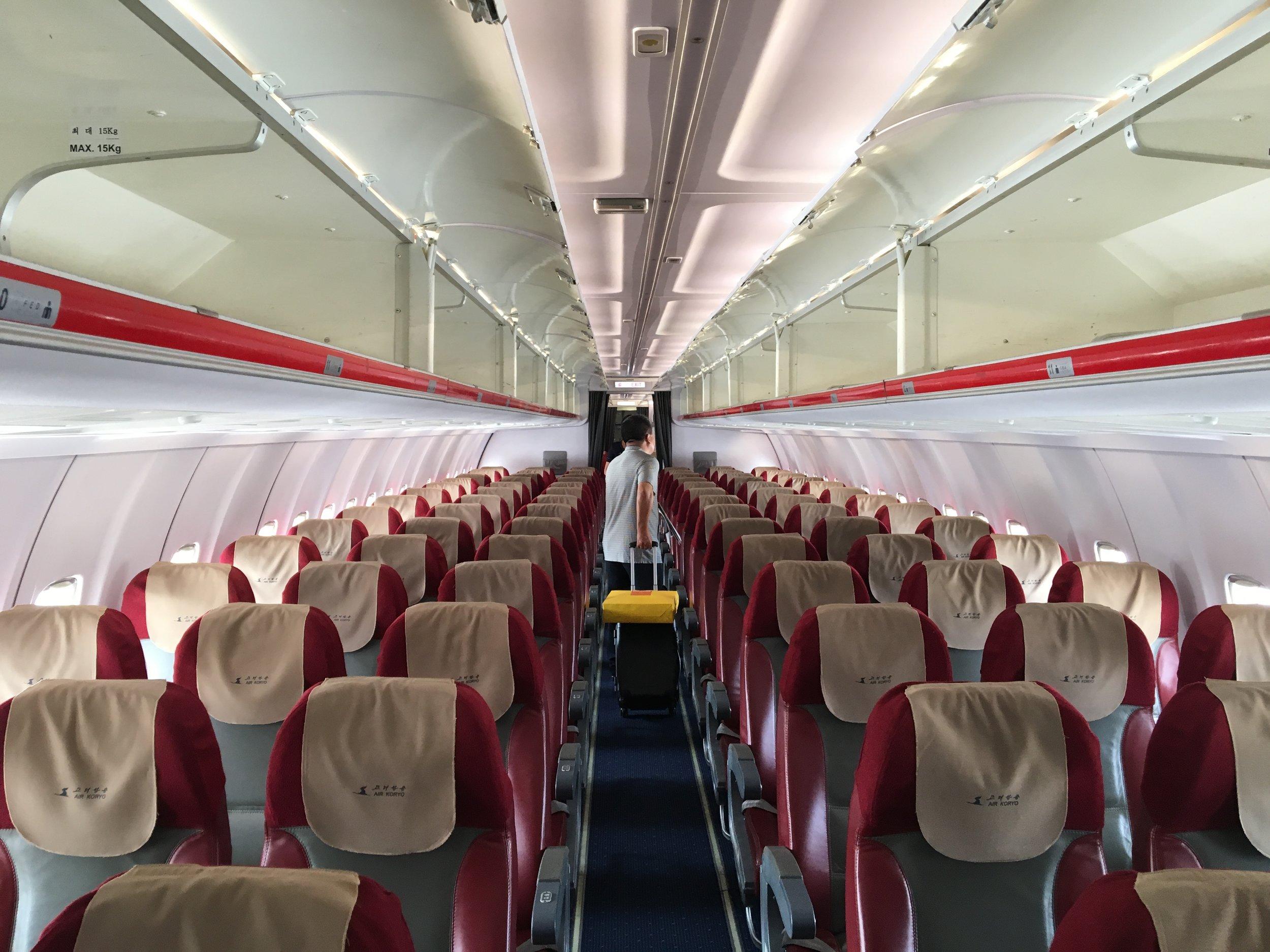 Air Koryo economy class aboard their TU204