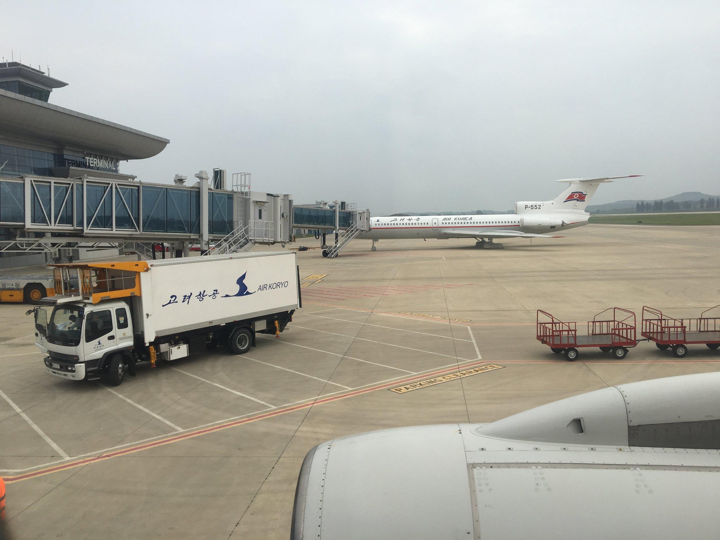 Catering truck at the Pyongyang Sunan International Airport