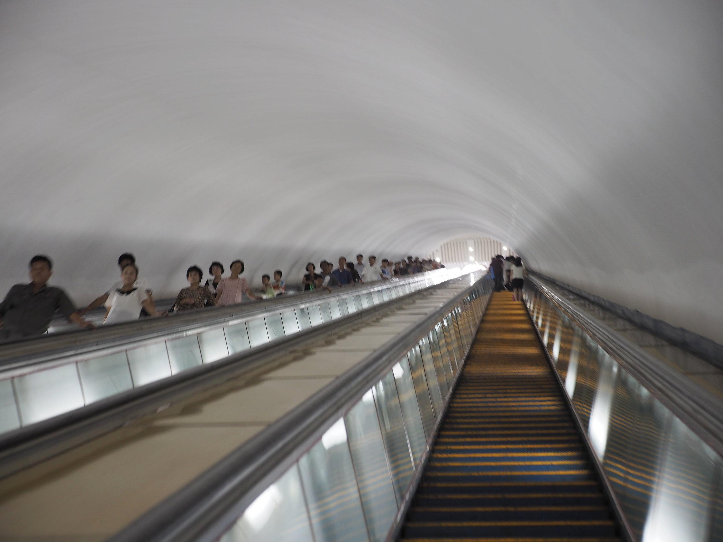 Escalators to the entrance