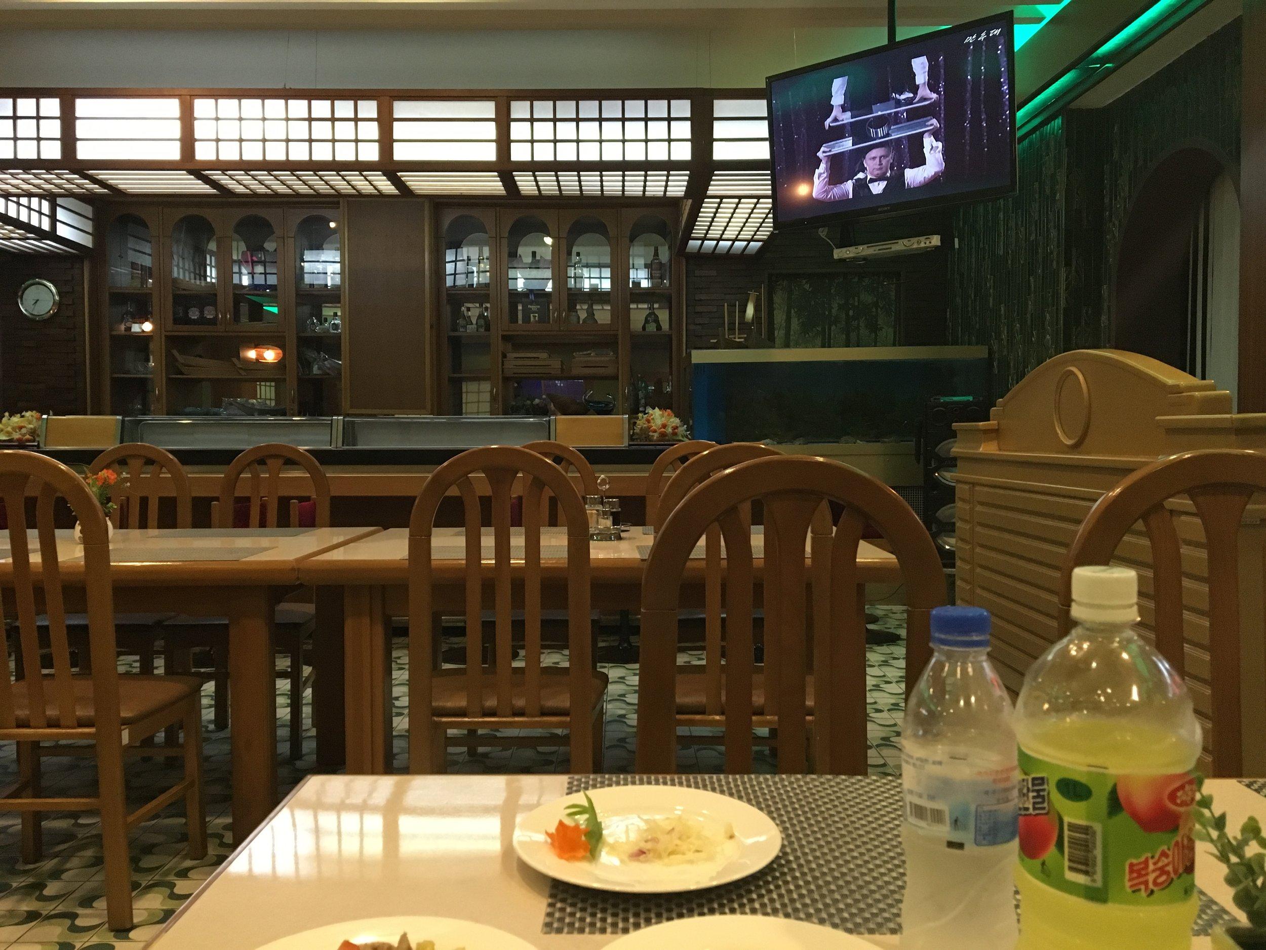 Empty restaurant as always.