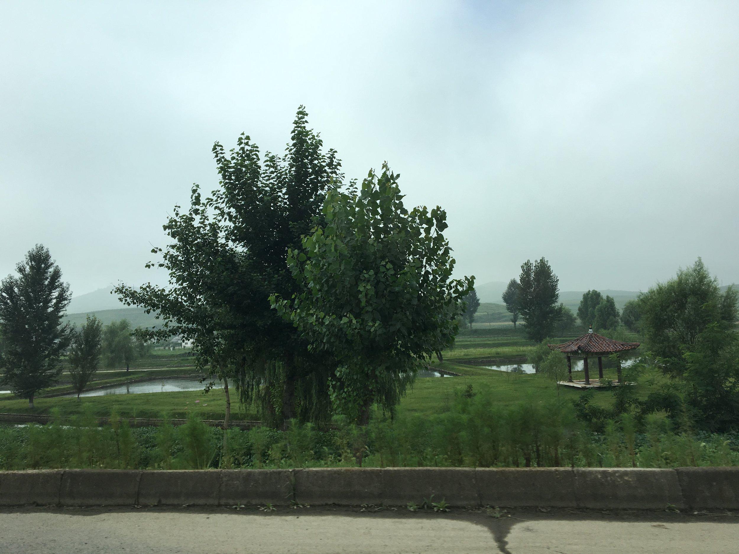 Countryside between Pyongyang and Kaesong