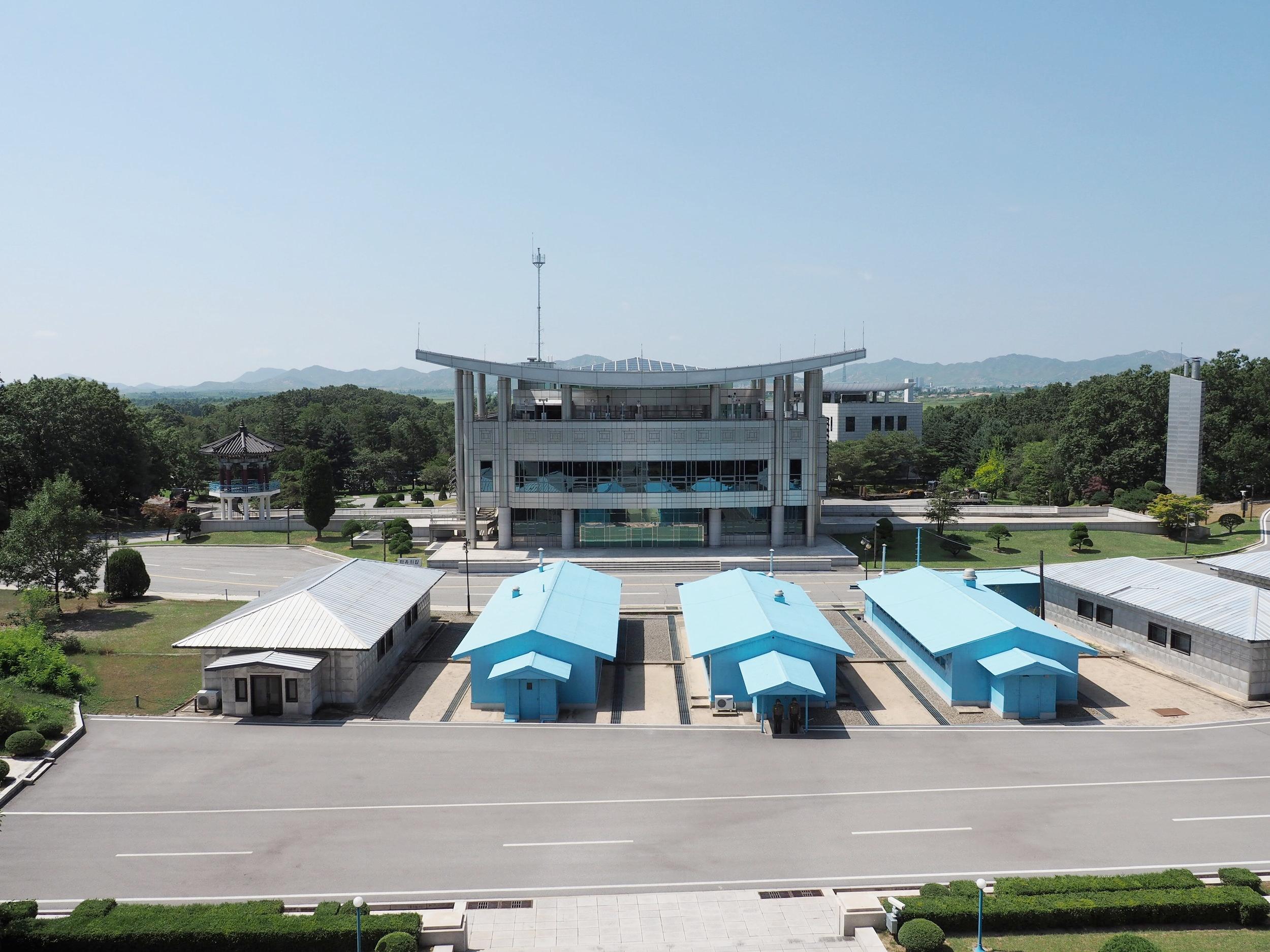 DMZ from North Korea looking towards South Korea