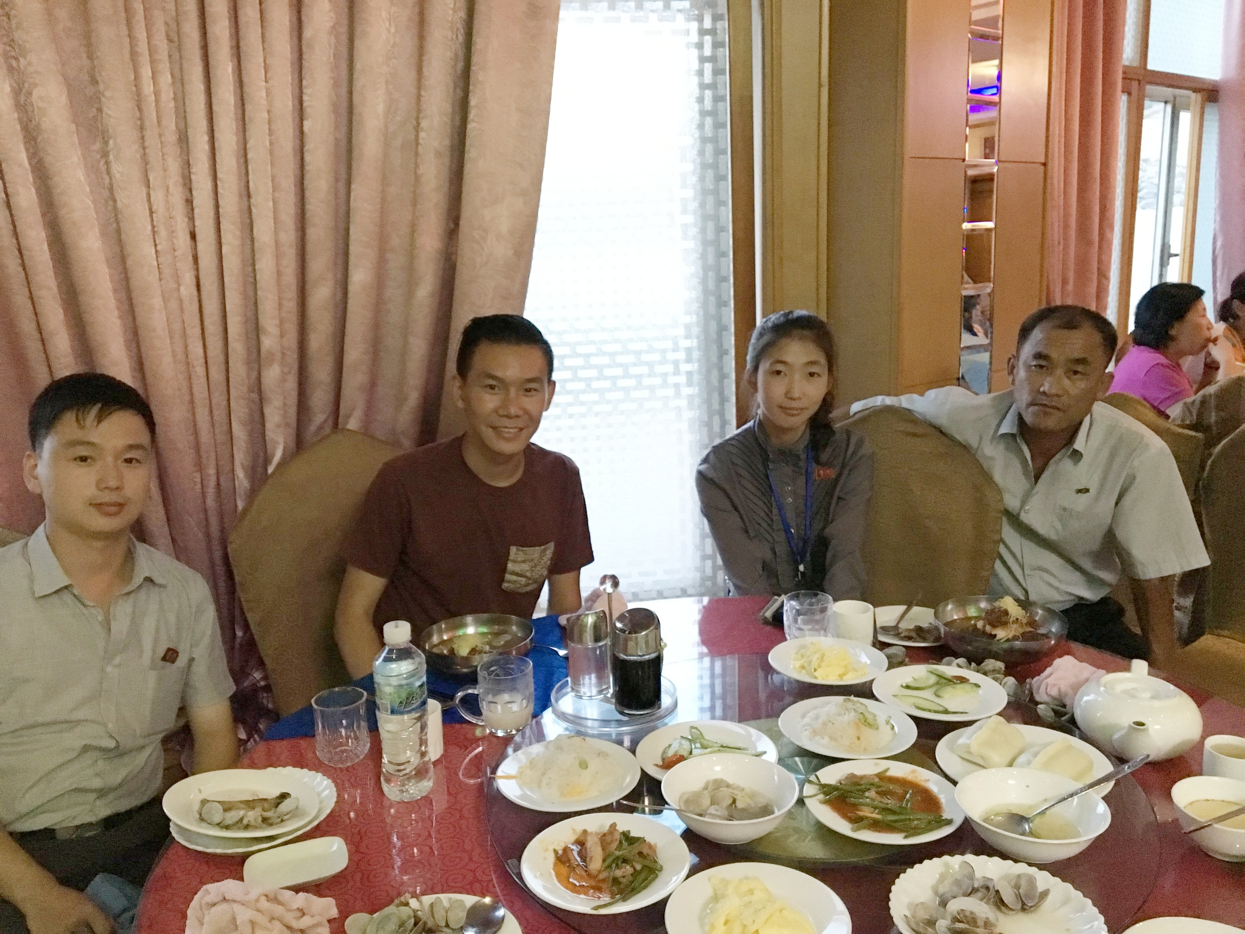 Dinner with the tour guides and driver