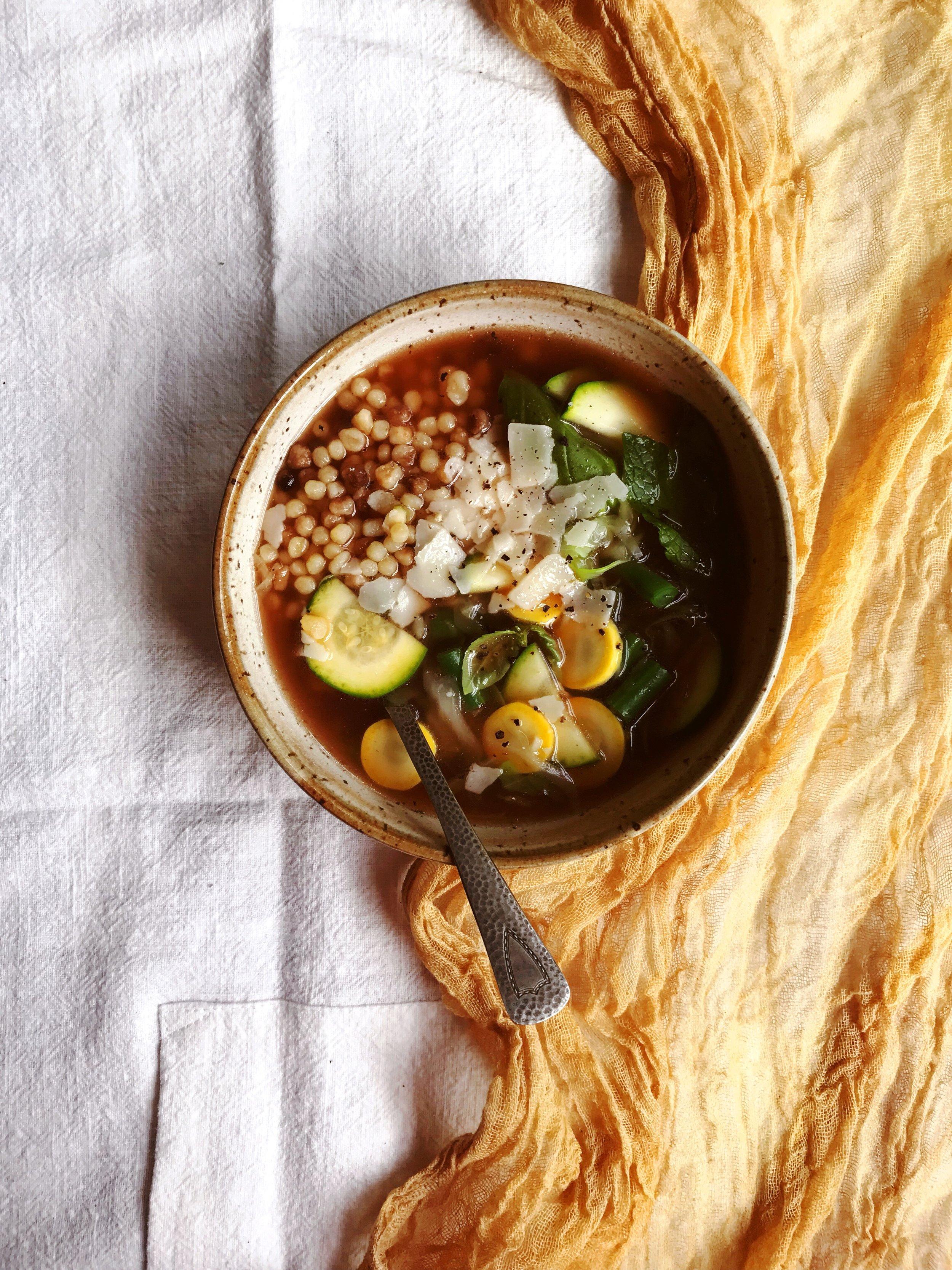 Fregola Summer Soup