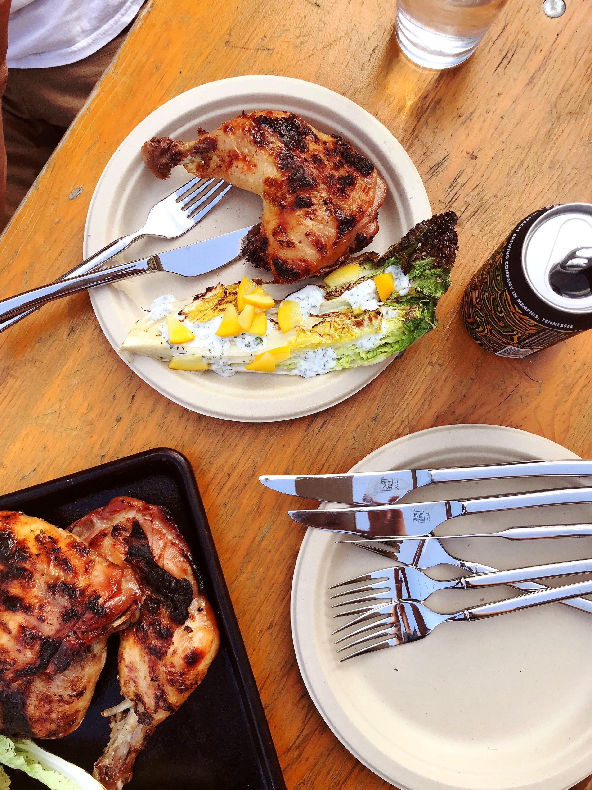 Fish sauce grilled chicken