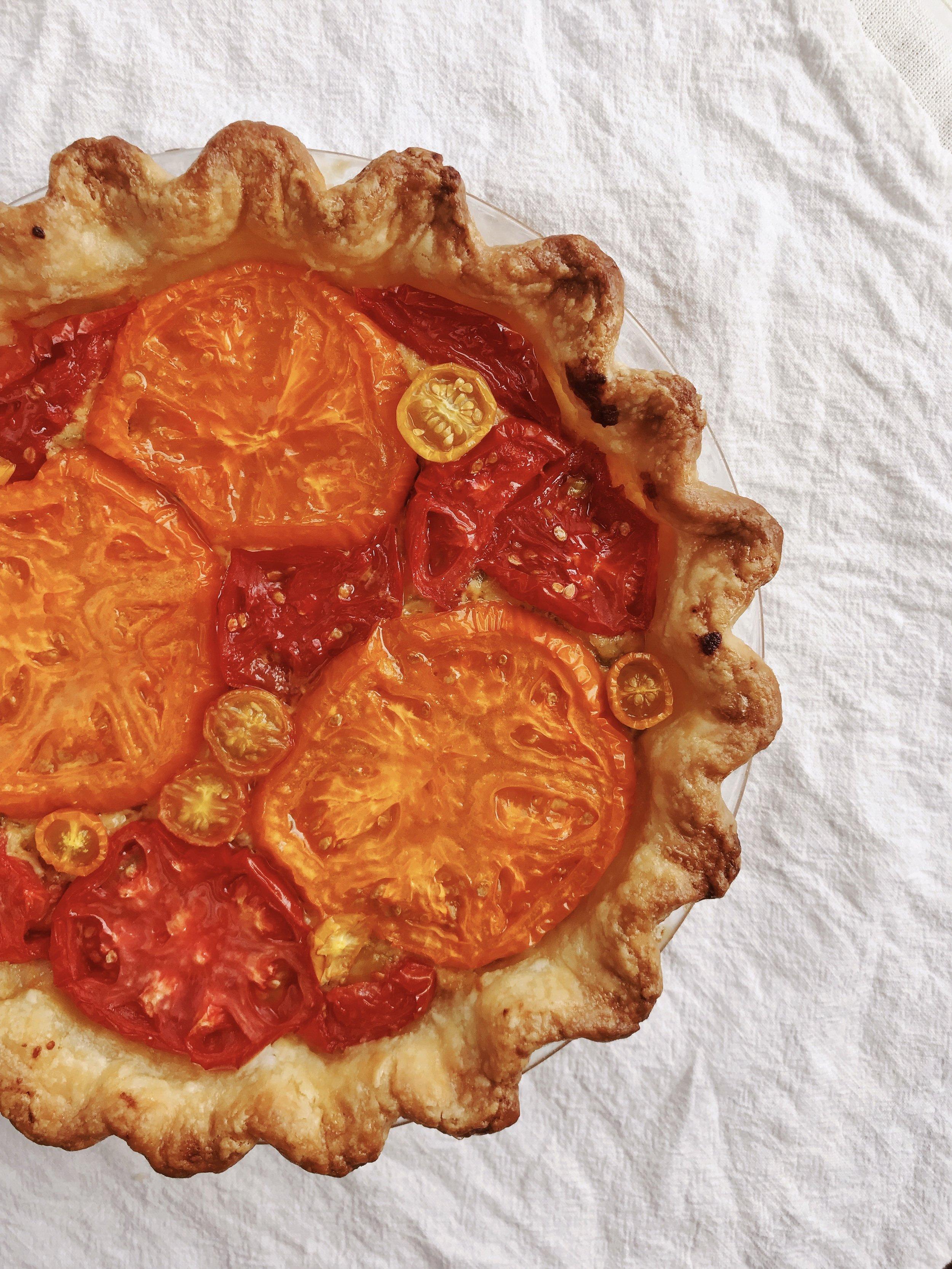 Six ingredient tomato pie
