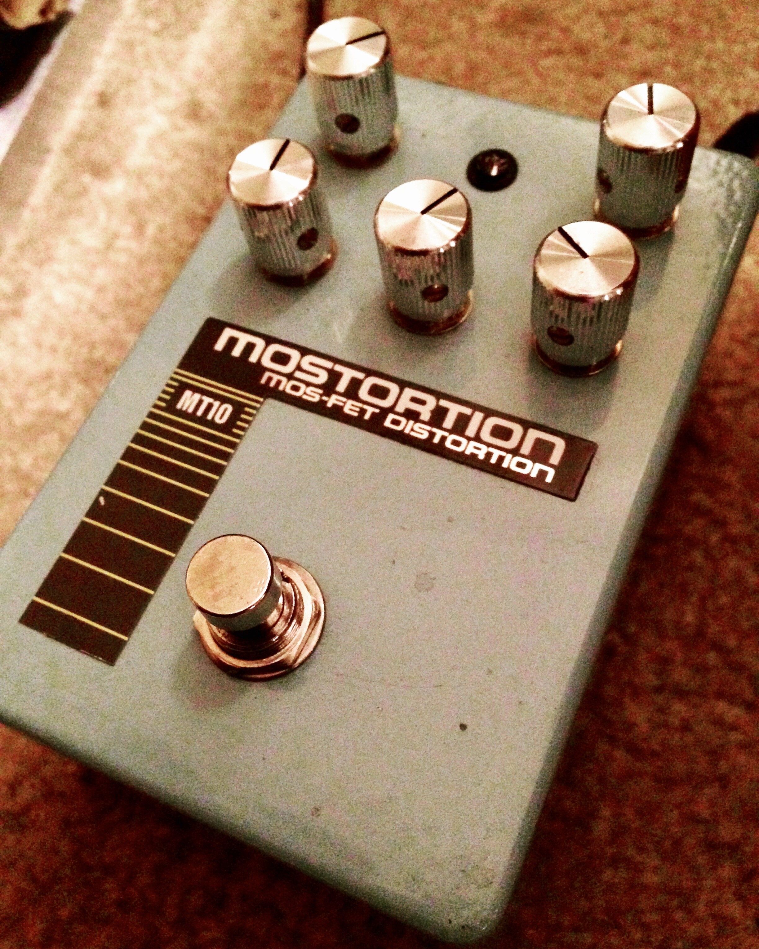 Ibanez MT10 Mostortion rehoused by Thru-Tone in Nashville, which lives on my studio LA Sound Design pedalboard