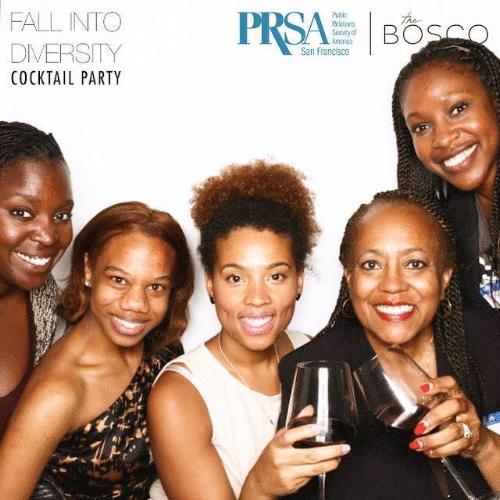 Friends, Mentors and I at PRSA-SFs 'Fall into Diversity Mixer