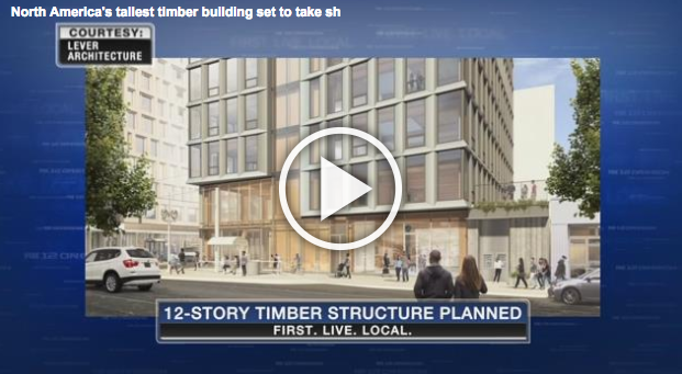 Twelve-story timber high-rise to be built in the Pearl District, FOX 12 Staff, November 29, 2016