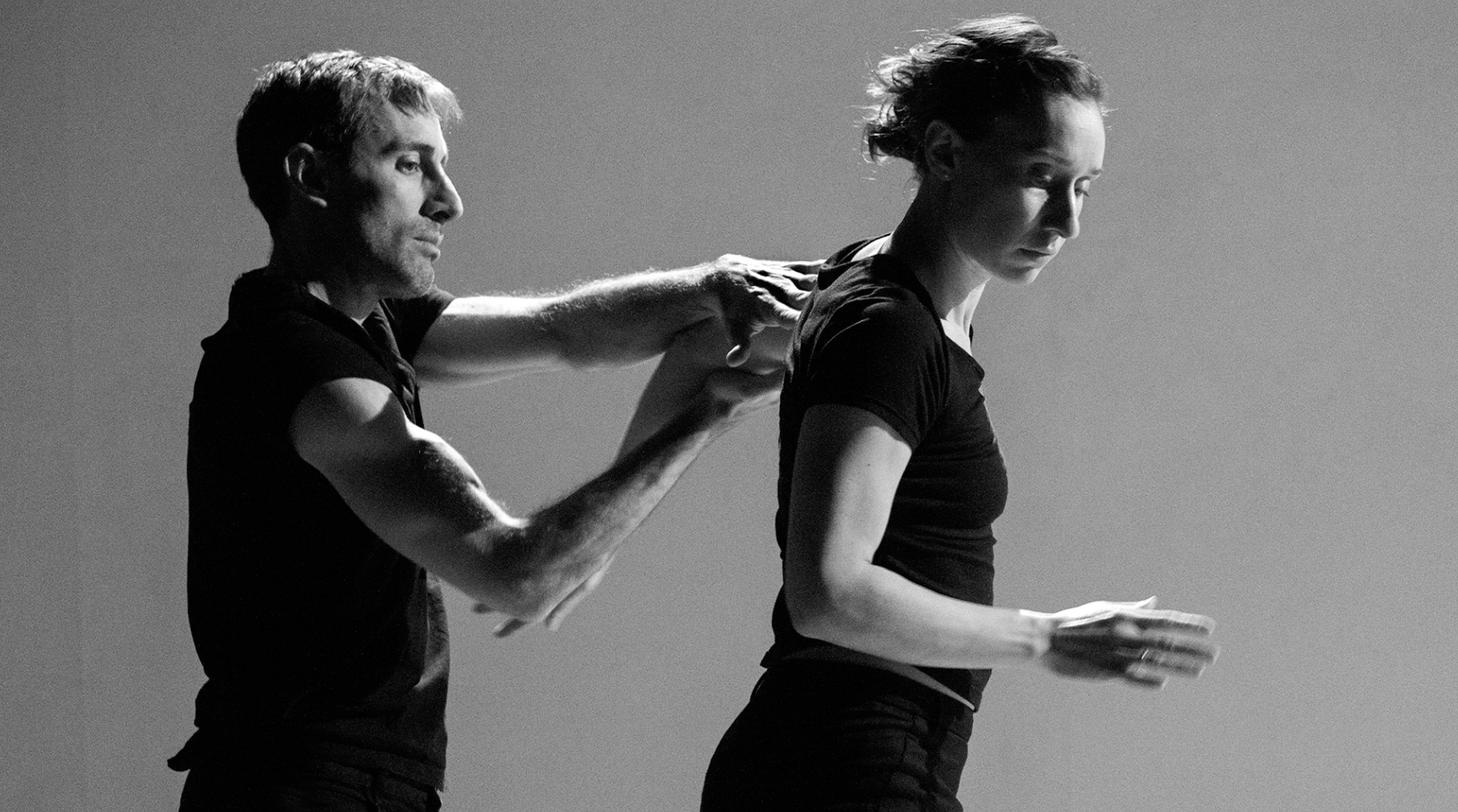 Engage the Feeling Arms  by Peter Bingham  Performers: Olivia Shaffer, Farley Johansson, Walter Kubanek at EDAM Choreographic Series Dec 2016 image credit: Chris Randle