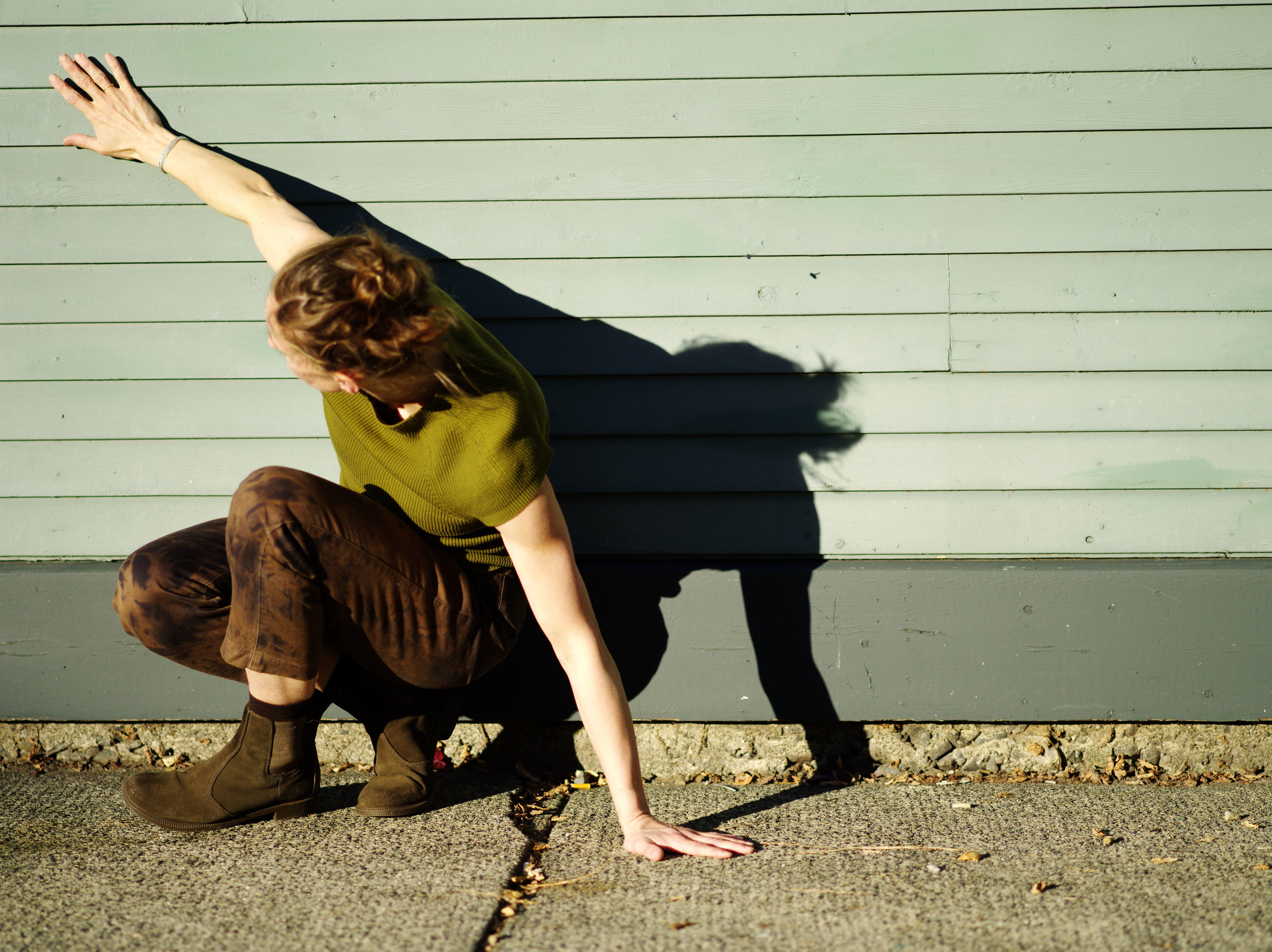 Small Stages - Free, outdoor event:Saturday July 13 Bute-Robson Plaza @ 4pmSunday July 14 North Vancouver Shipyards @ 4pmChoreographer / Performer : Olivia ShafferMusic: Peter GregsonAn excerpt of a longer work that will be premiered at the Annex Theatre on November 16-17, 2019, presented by New Works.Senescence is a personal reflection into my caregiving journey, through my father's struggle with Parkinson's disease and dementia. senescence (/sɪˈnɛsəns/): biological aging; the gradual deterioration of functional characteristics that occurs in the mind and body.
