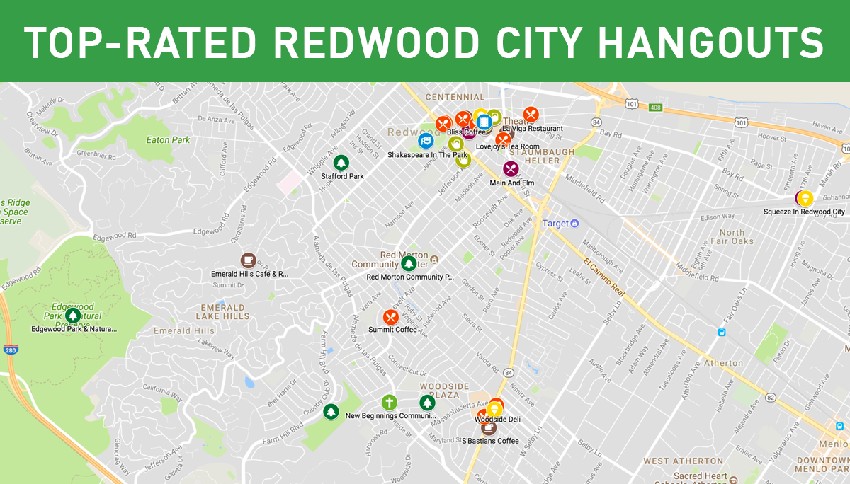 - Wondering where you might hang out before or after church?We've created a map of highly-rated coffee houses, restaurants and parks—all within a short distance of our new site.Click on the interactive map, or see the list-view of the locations.