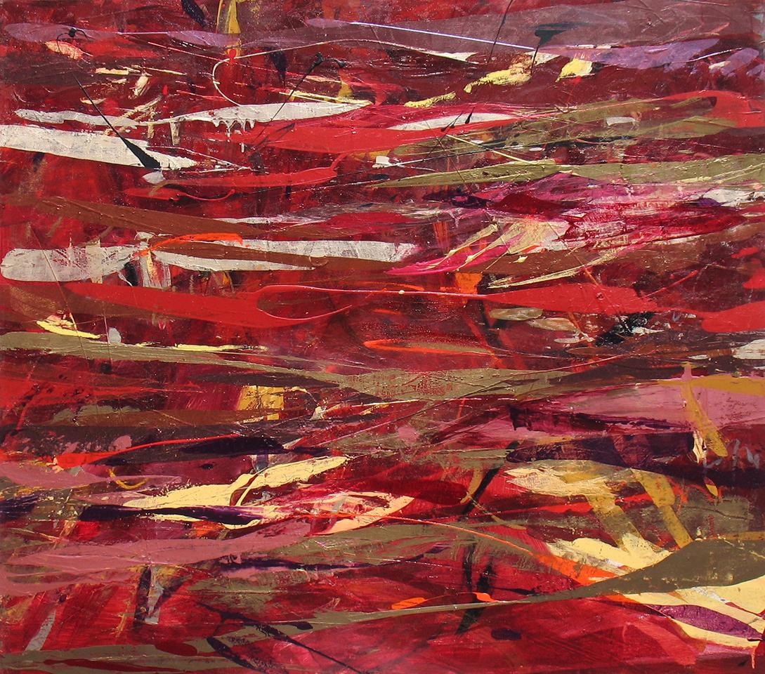 """05 Mad Pursuit 48""""HX54""""W Acrylic on canvas $4300.jpg"""