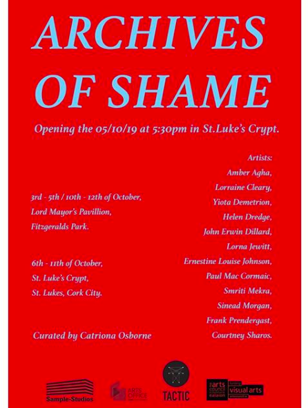 Archives of Shame Exhibition Ireland- with Amber's poem Cost/Sister Come Home. October 2019